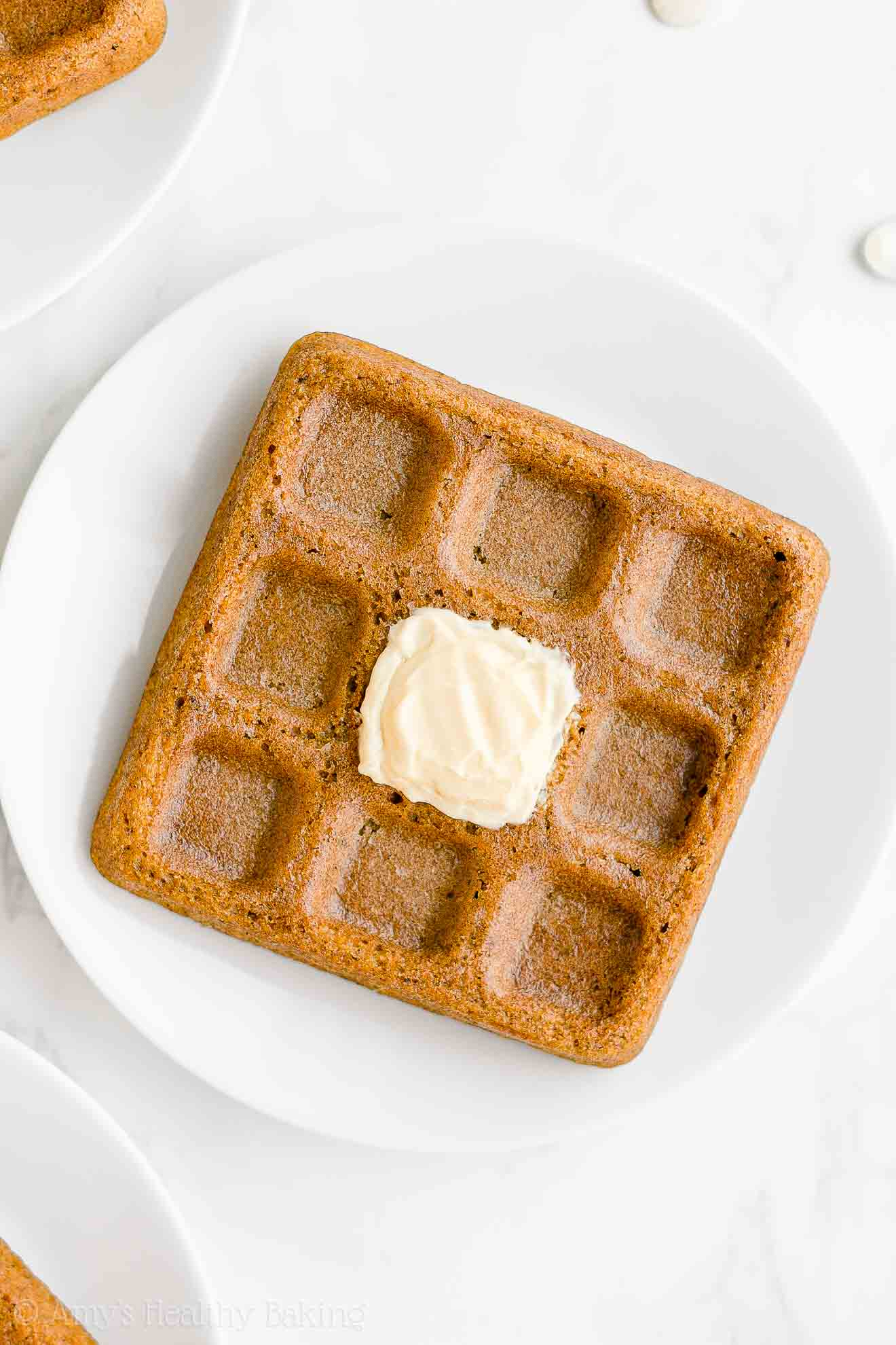 Best Healthy Fluffy Low Calorie Pumpkin Waffles with Weight Watchers Points