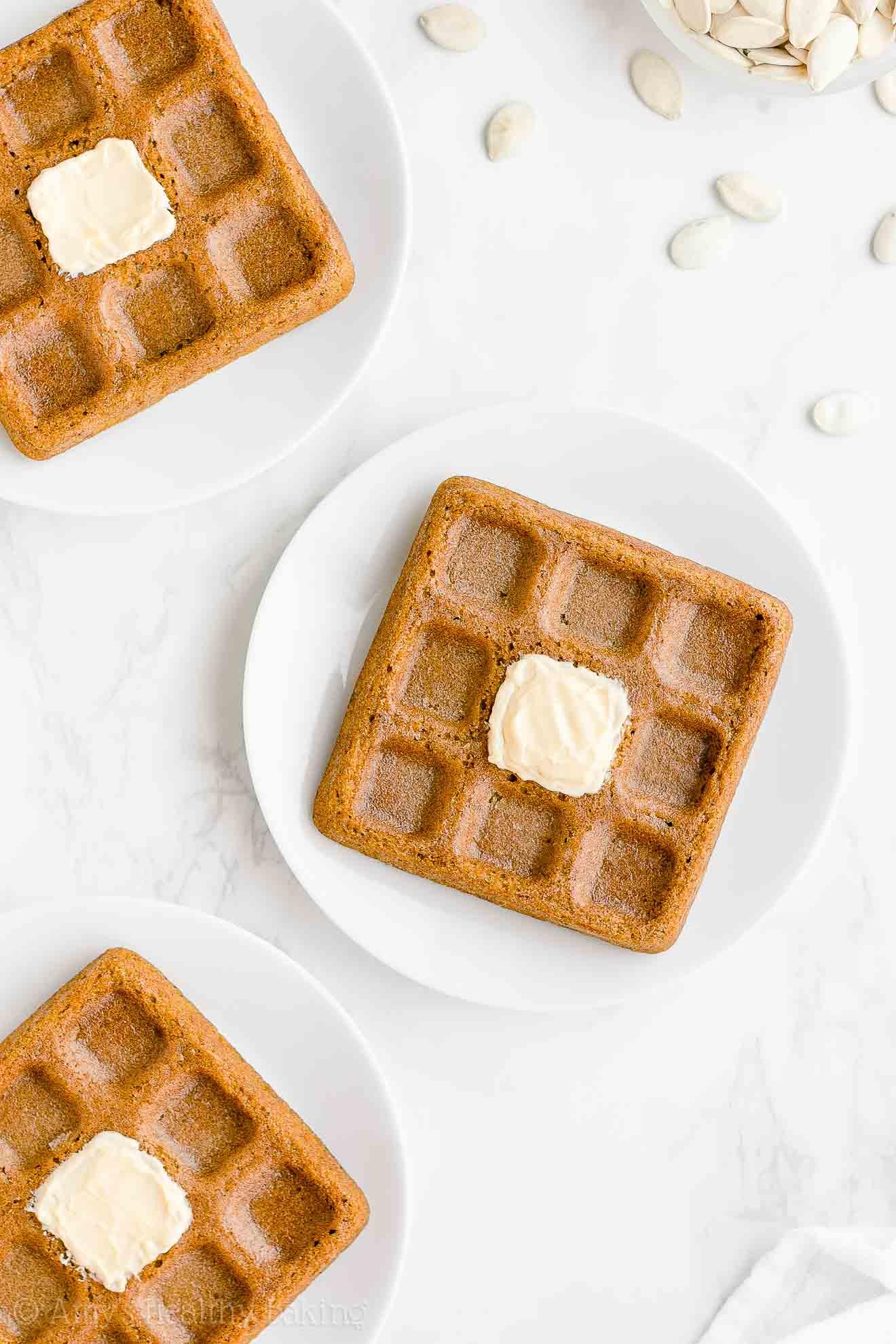 Best Healthy Clean Eating Weight Watchers Low Fat Pumpkin Waffles