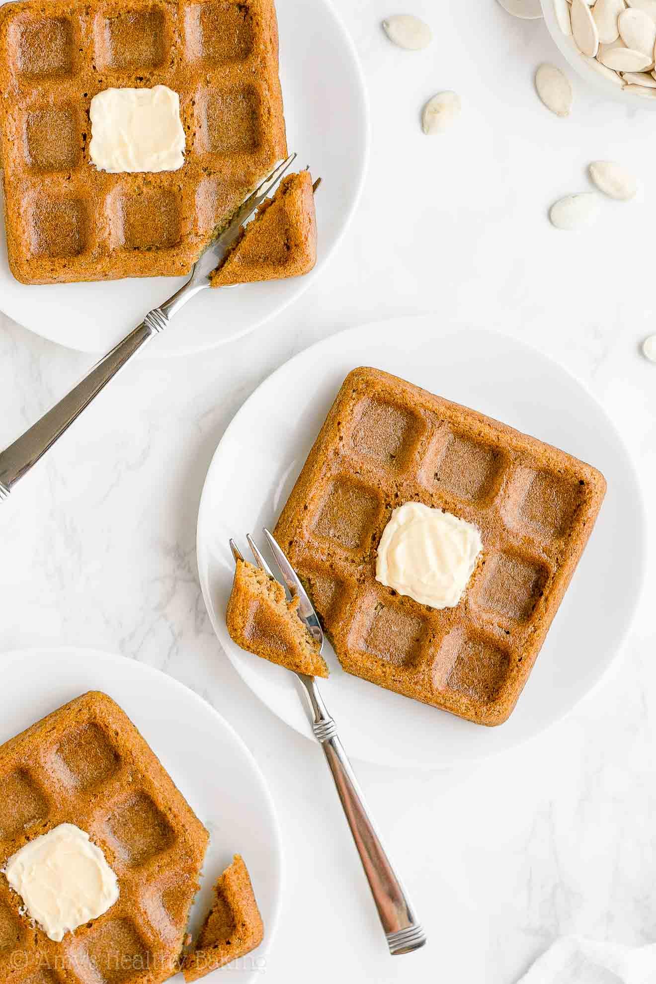 Best Healthy Fluffy Whole Wheat Low Fat Pumpkin Waffles