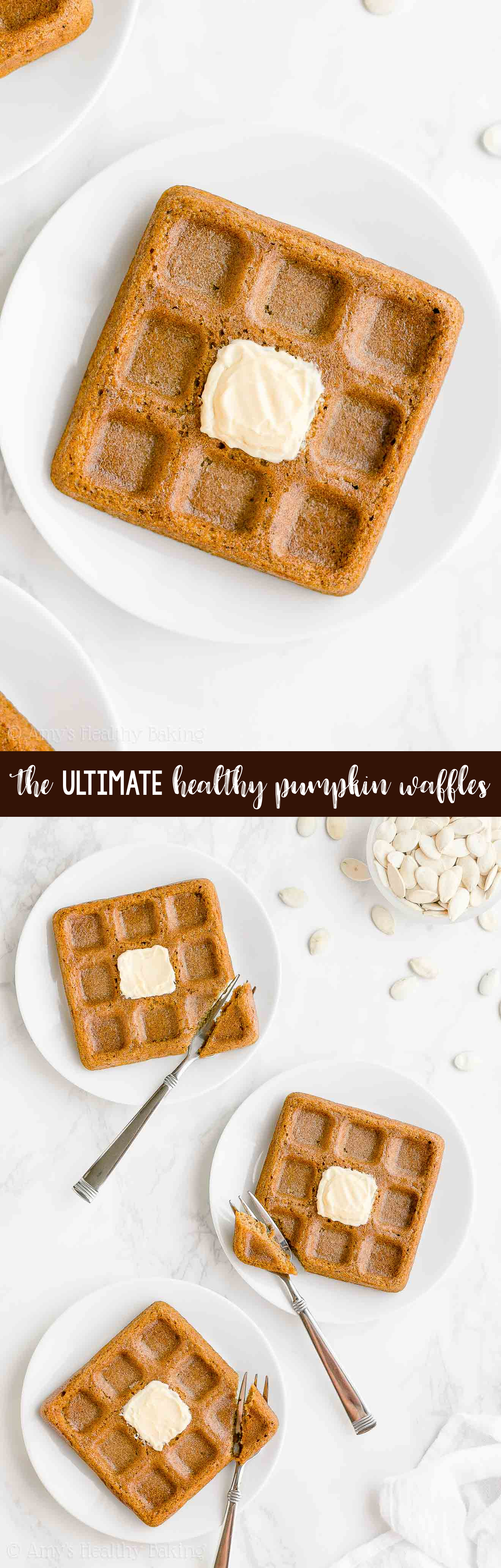 Best EVER Ultimate Healthy Clean Eating Fluffy Pumpkin Waffles