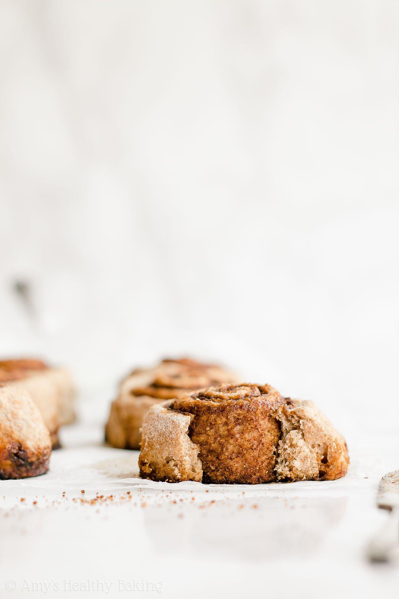 Healthy Low Calorie Whole Wheat Vegan Chai Spice Cinnamon Rolls