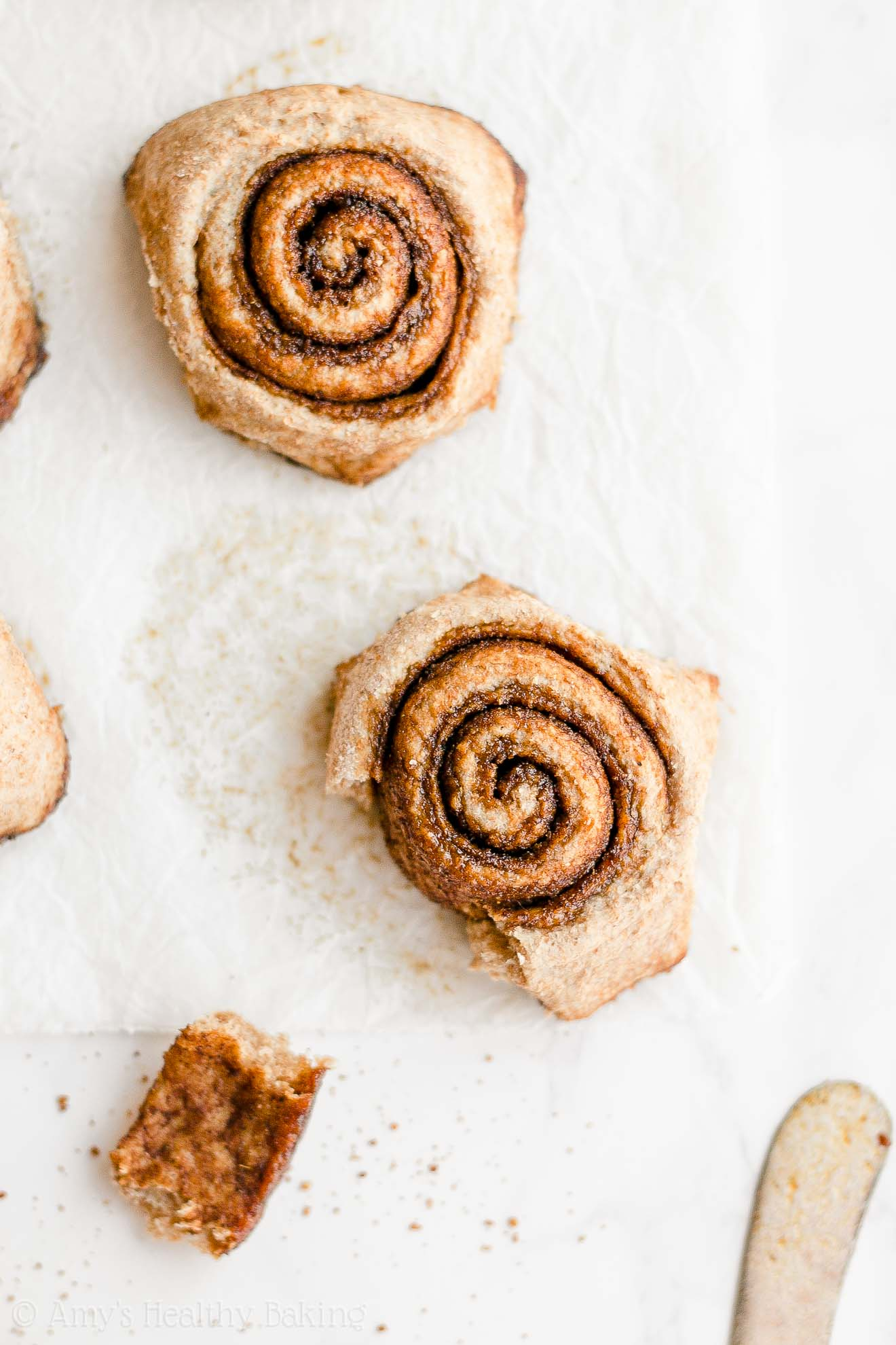 Healthy Low Fat Low Calorie Fluffy Chai Spice Cinnamon Rolls