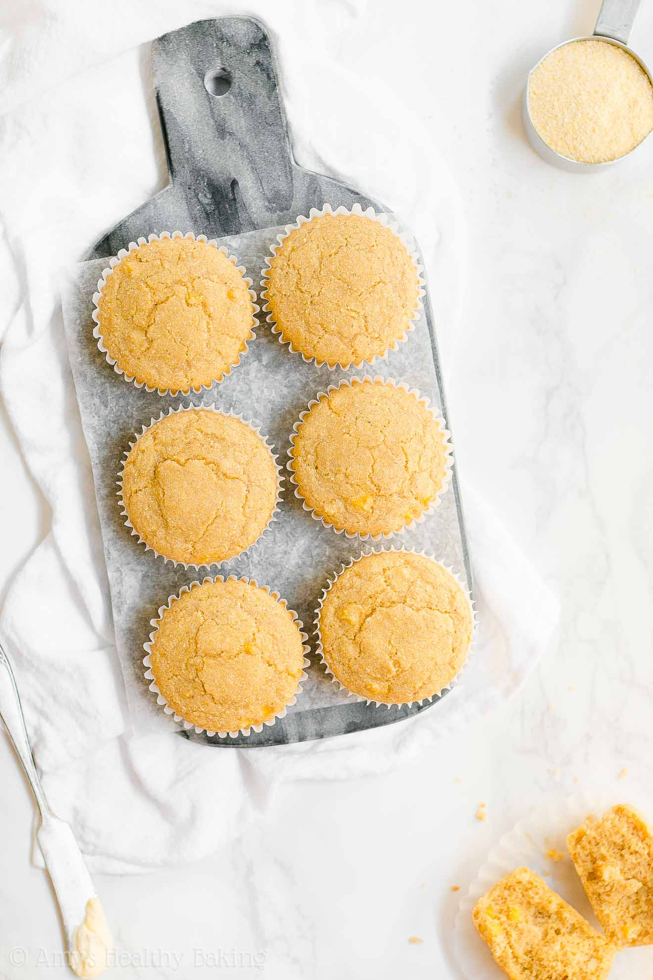 ULTIMATE Healthy Moist Gluten-Free Honey Cornbread Muffins