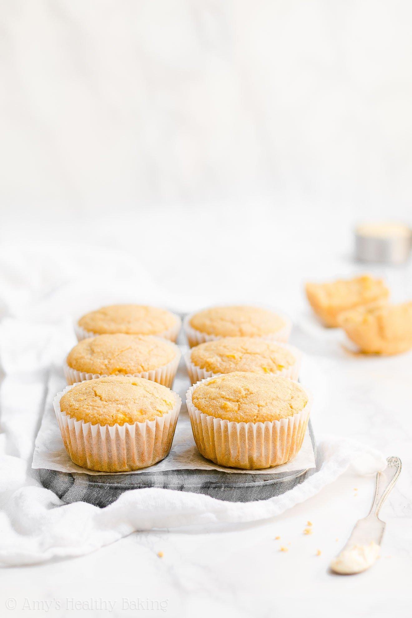 ULTIMATE Healthy Easy Low Calorie Gluten Free Cornbread Muffins