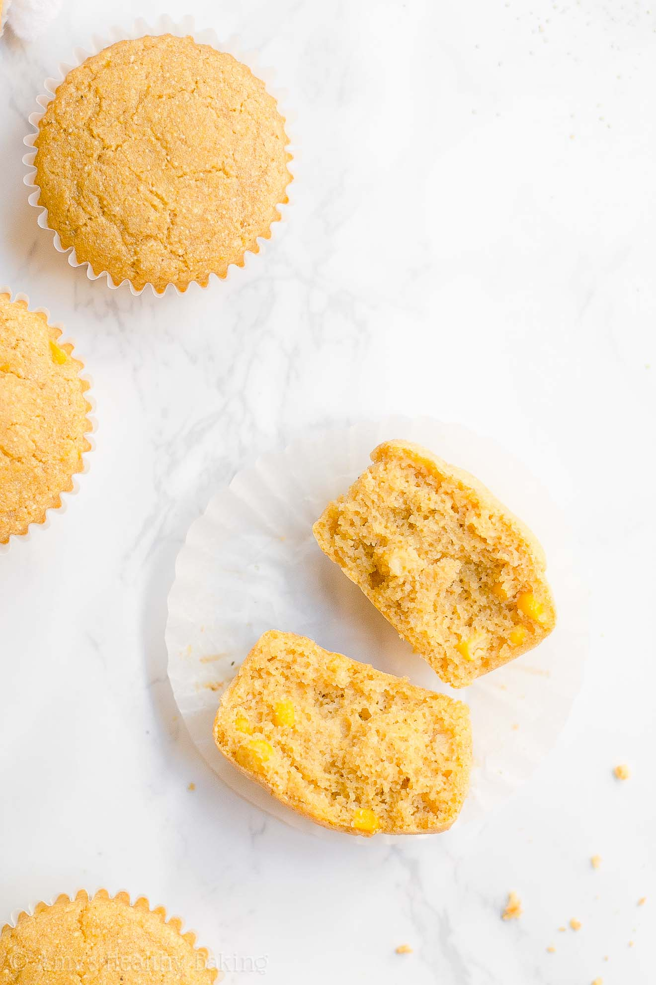 ULTIMATE Healthy Moist Low Fat Whole Wheat Cornbread Muffins