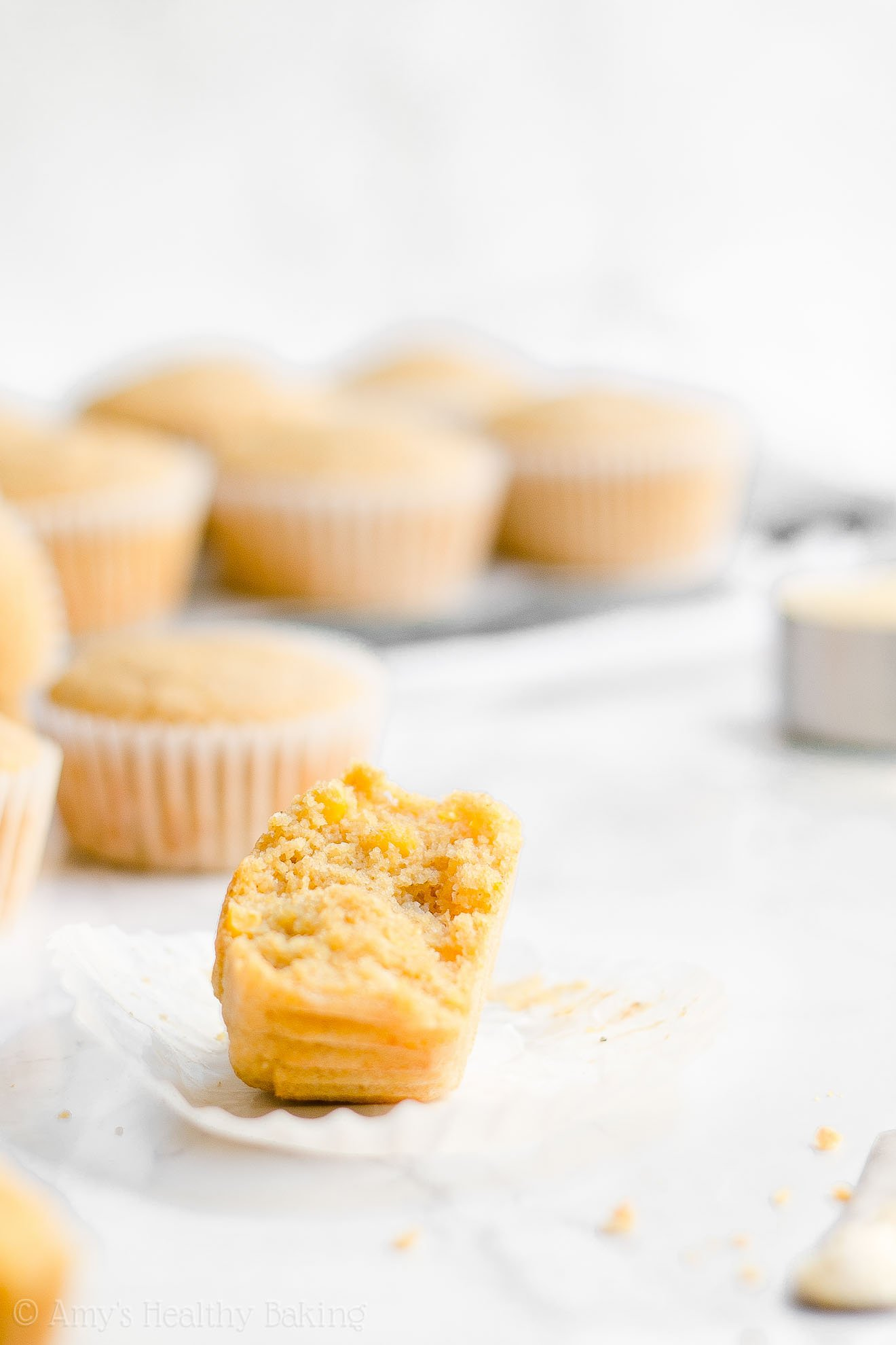 ULTIMATE Healthy Low Fat Low Calorie Cornbread Muffins with Whole Corn