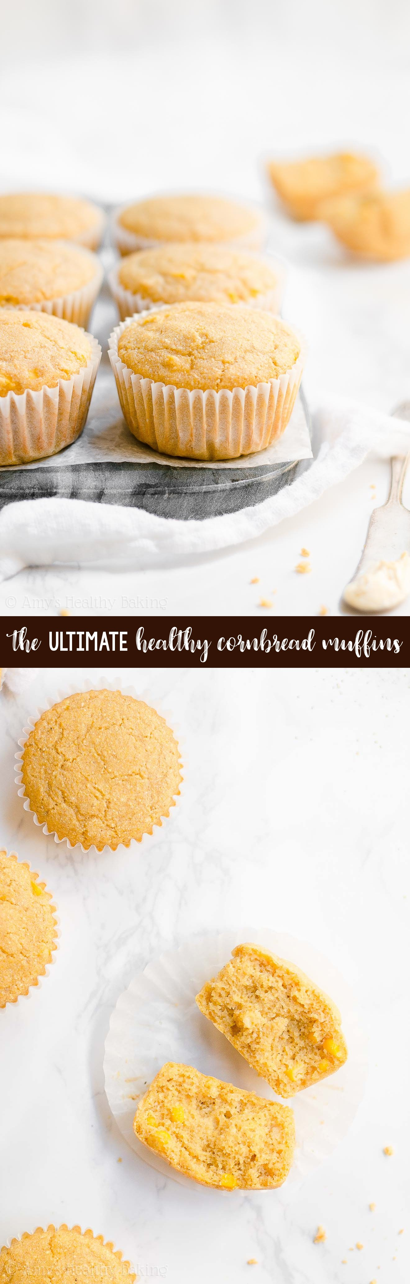 ULTIMATE Best Ever Easy Healthy Cornbread Muffins