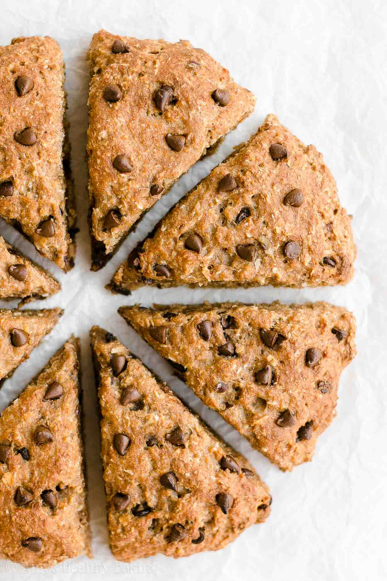 Healthy Whole Wheat Cowboy Cookie Chocolate Chip Pecan Scones