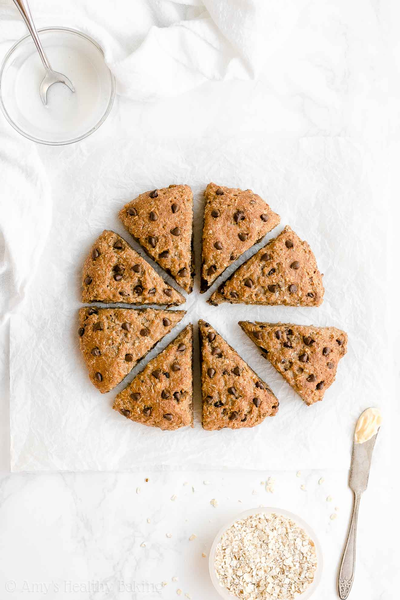 Healthy Gluten Free Cowboy Cookie Maple Oatmeal Scones