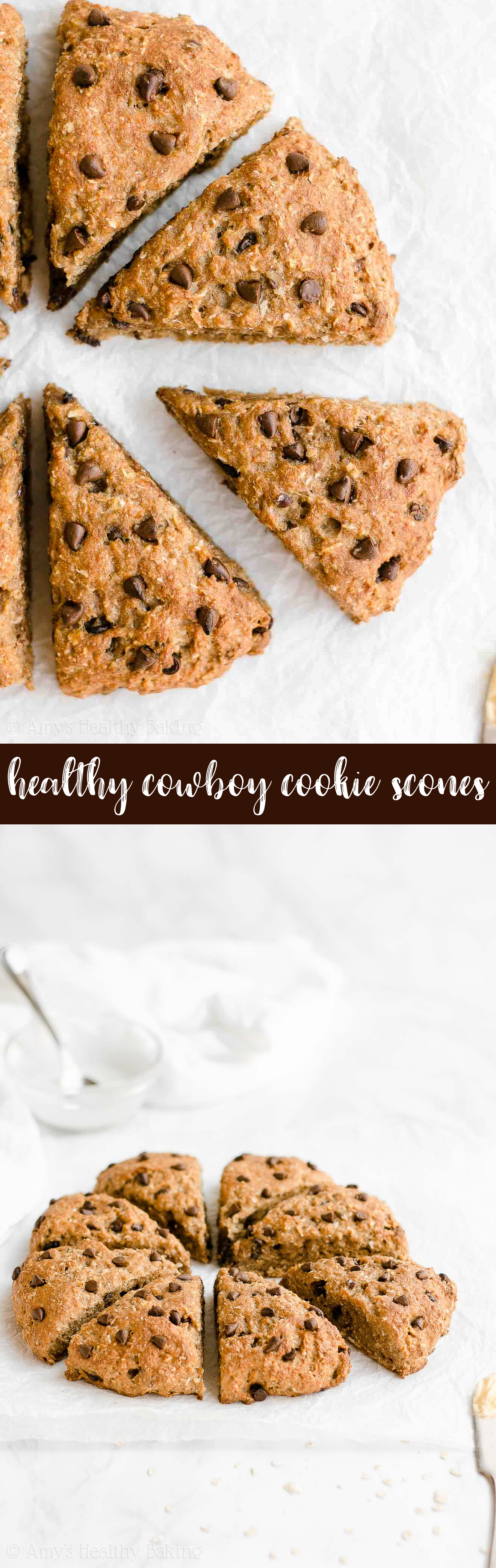 Best Healthy Clean Eating Greek Yogurt Cowboy Cookie Scones