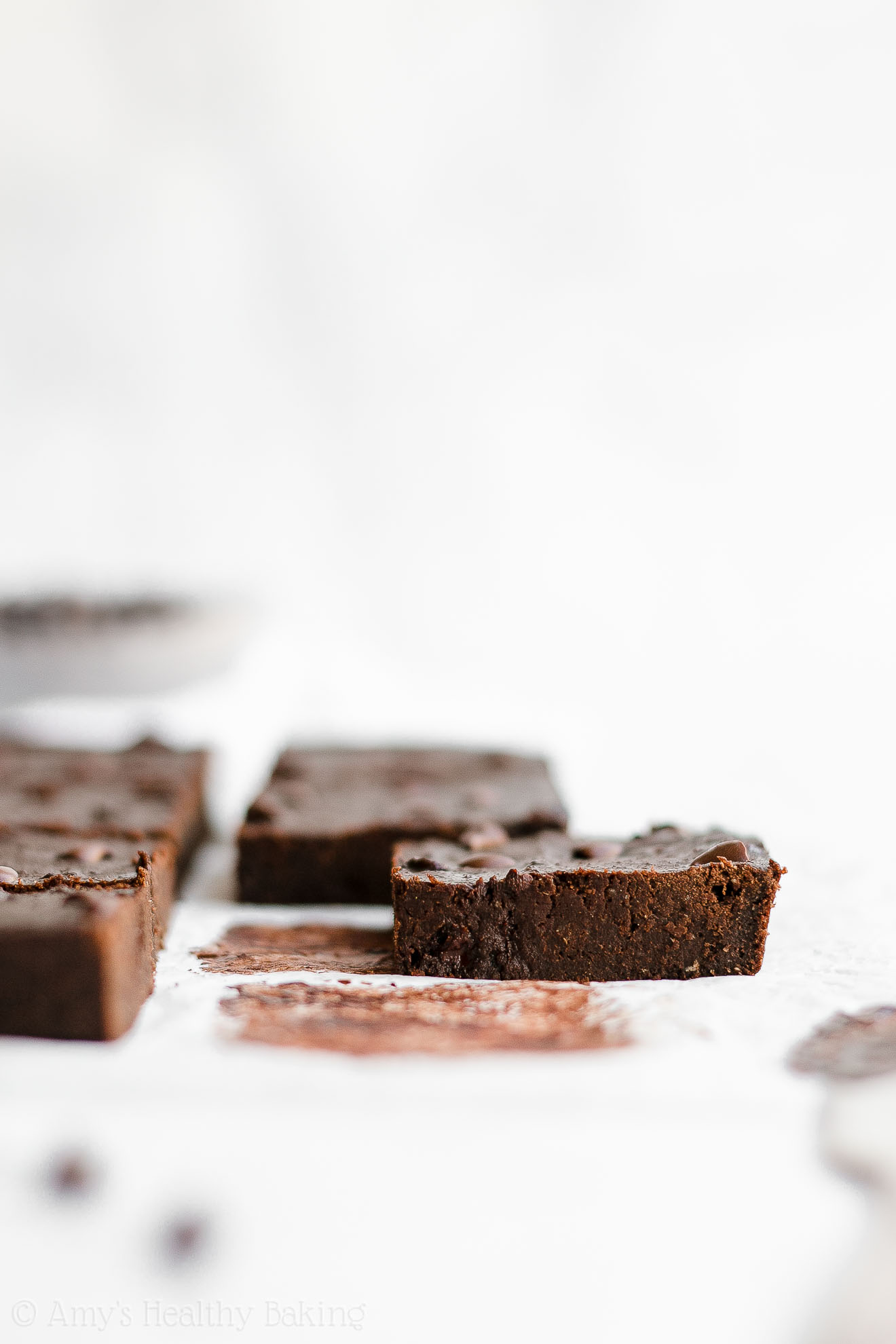 Easy Healthy Low Calorie Fudgy Chocolate Chip Olive Oil Brownies