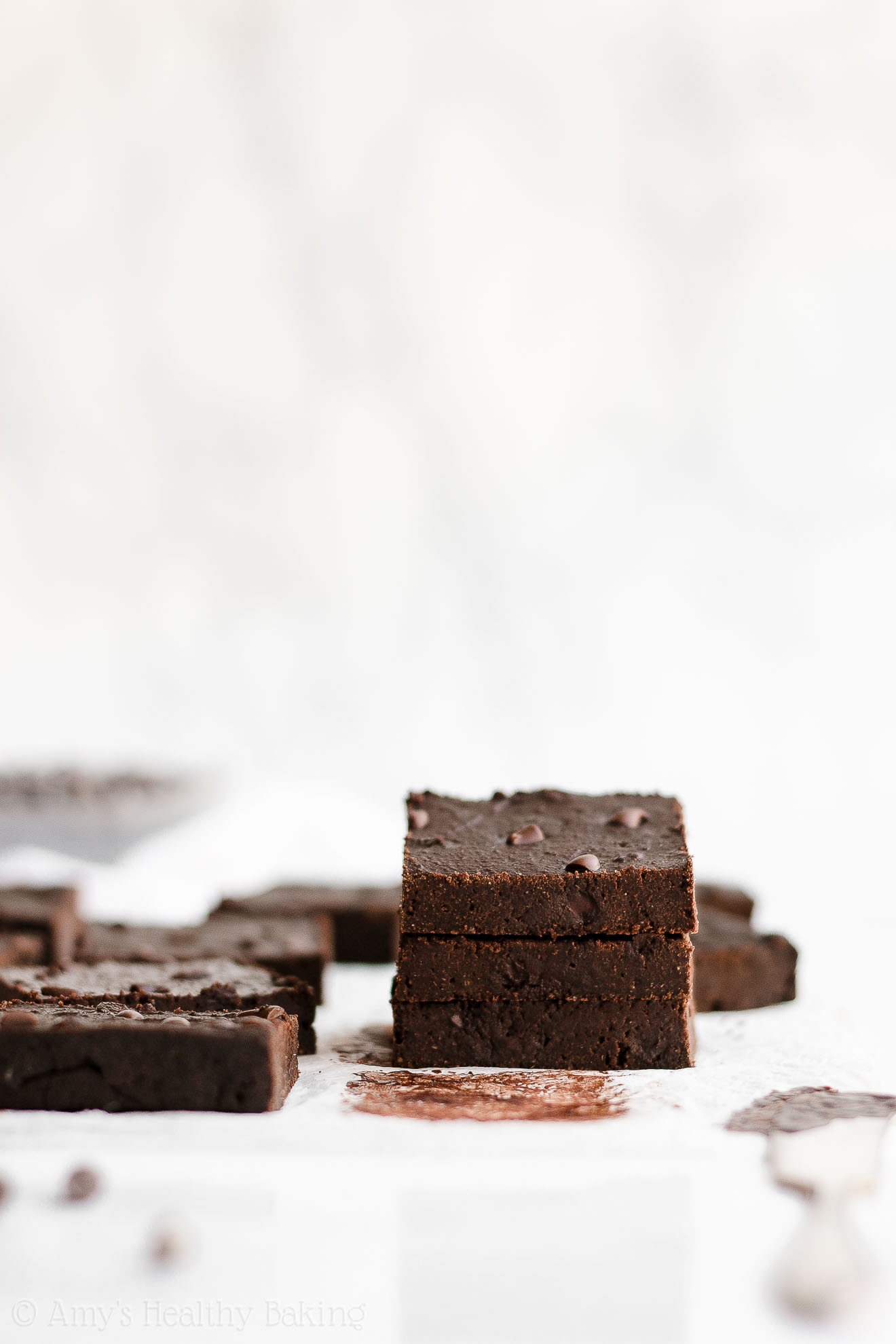 Healthy Fudgy Chocolate Chip Olive Oil Brownies with Weight Watchers Points