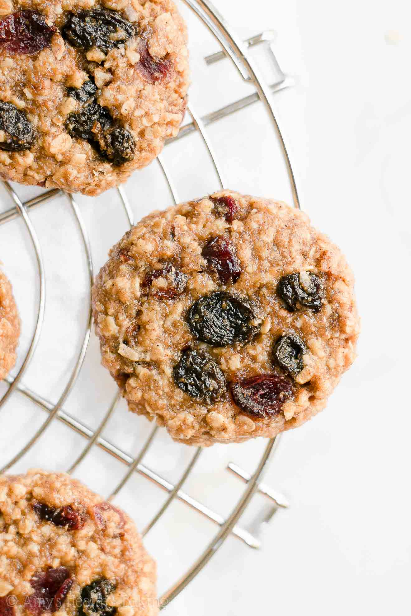 Easy Homemade Healthy Soft & Chewy Harvest Oatmeal Cookies