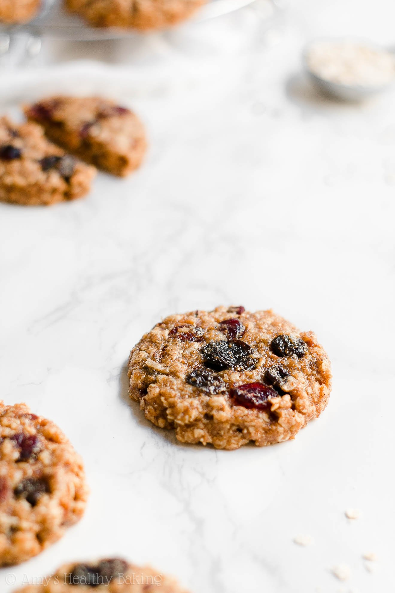 Soft Chewy Healthy Fall Harvest Oatmeal Cookies