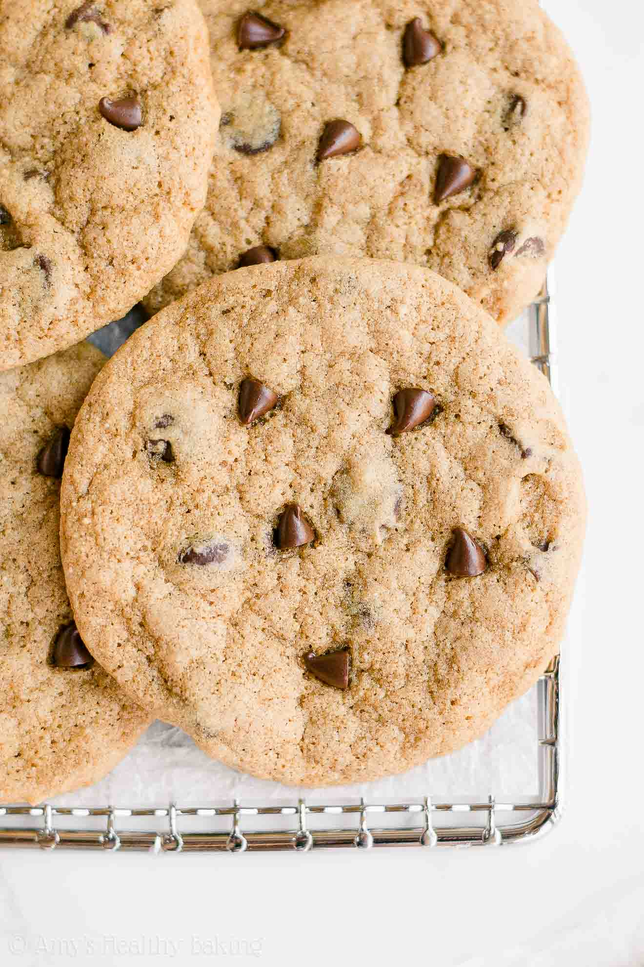 Healthy Whole Wheat One-Bowl Small Batch Chewy Chocolate Chip Cookies