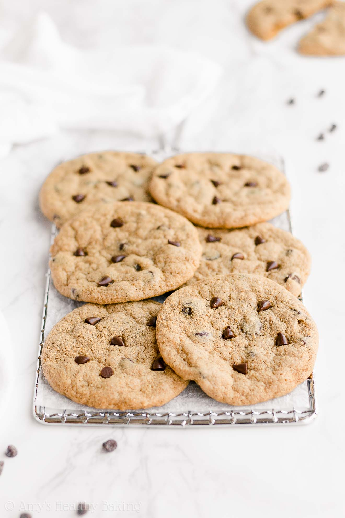 Healthy Clean Eating Gluten Free One-Bowl Chewy Chocolate Chip Cookies