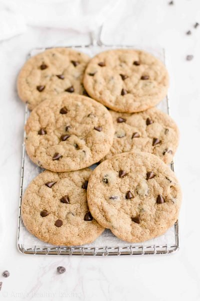 The Best Healthy Chocolate Chip Cookies (One-Bowl Recipe!)
