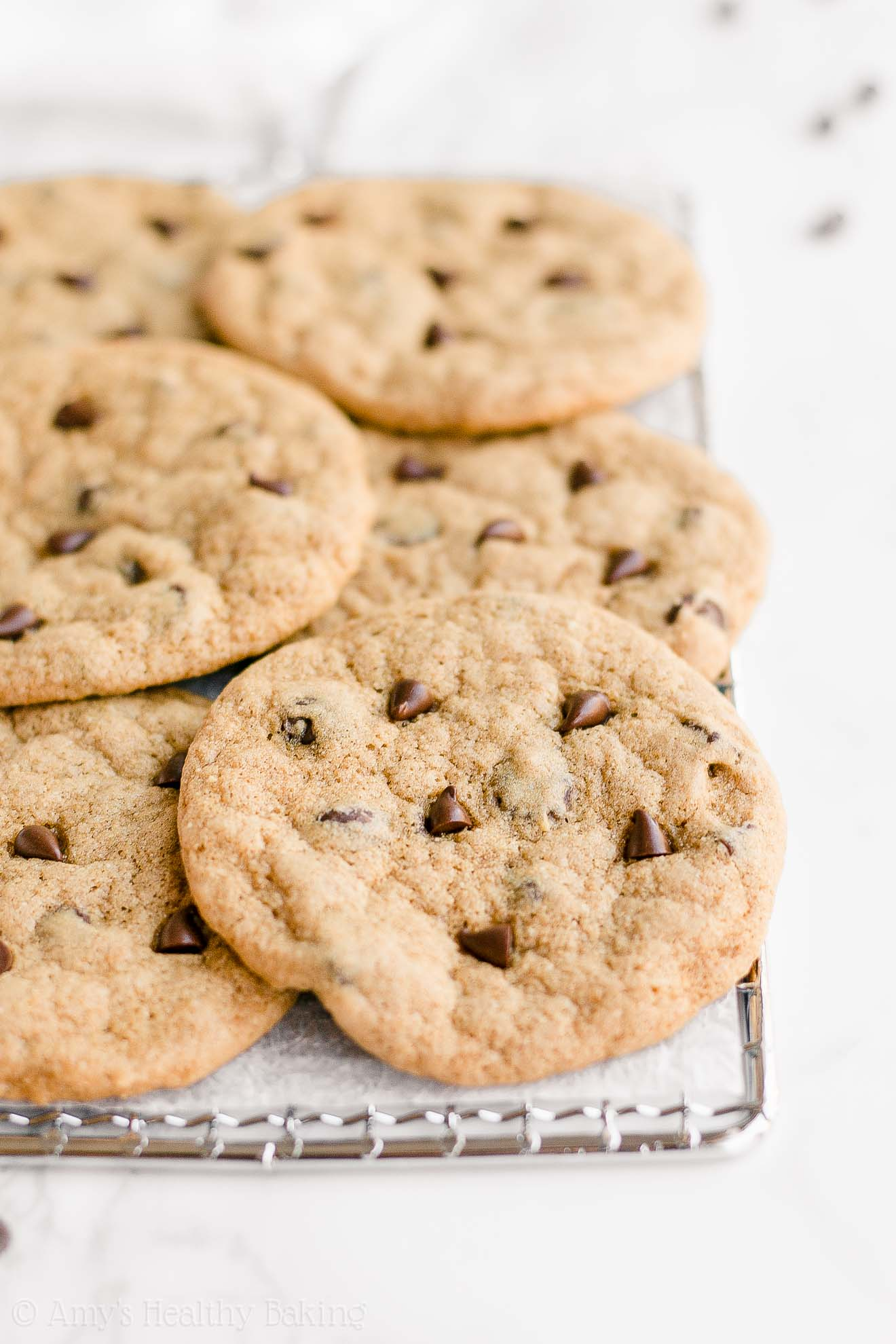 Best Healthy One-Bowl Chocolate Chip Cookies with Weight Watchers Points