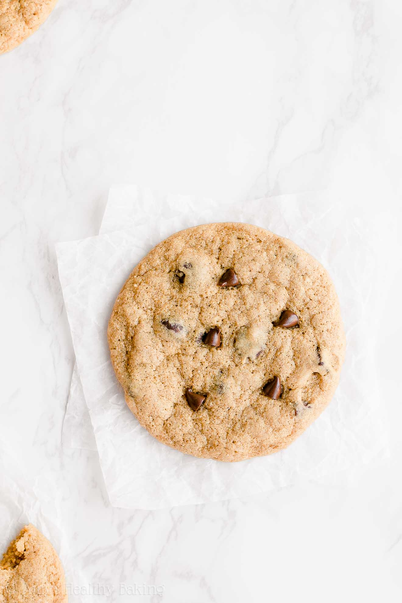 Best Easy Healthy Eggless Whole Wheat One-Bowl Chocolate Chip Cookies