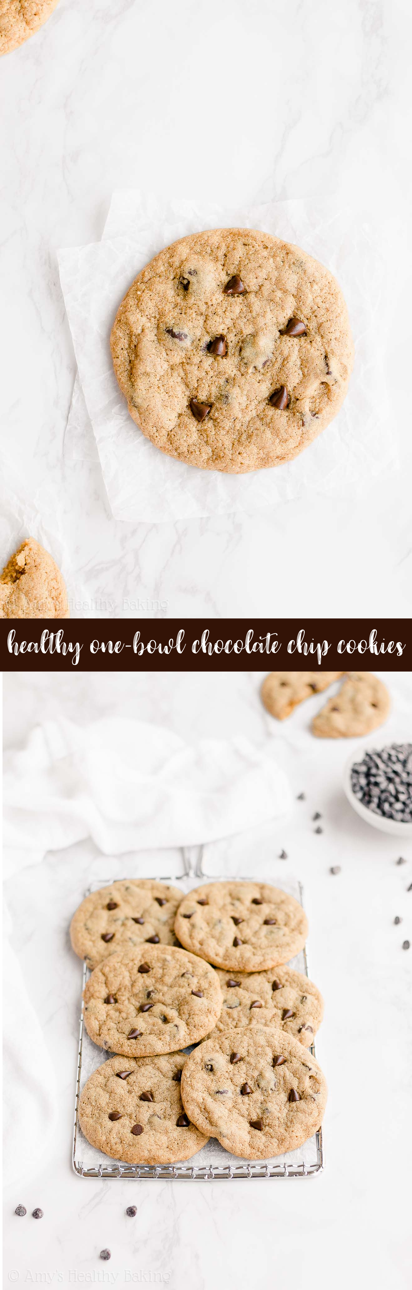 Ultimate Best Ever Healthy Small Batch One-Bowl Chewy Chocolate Chip Cookies