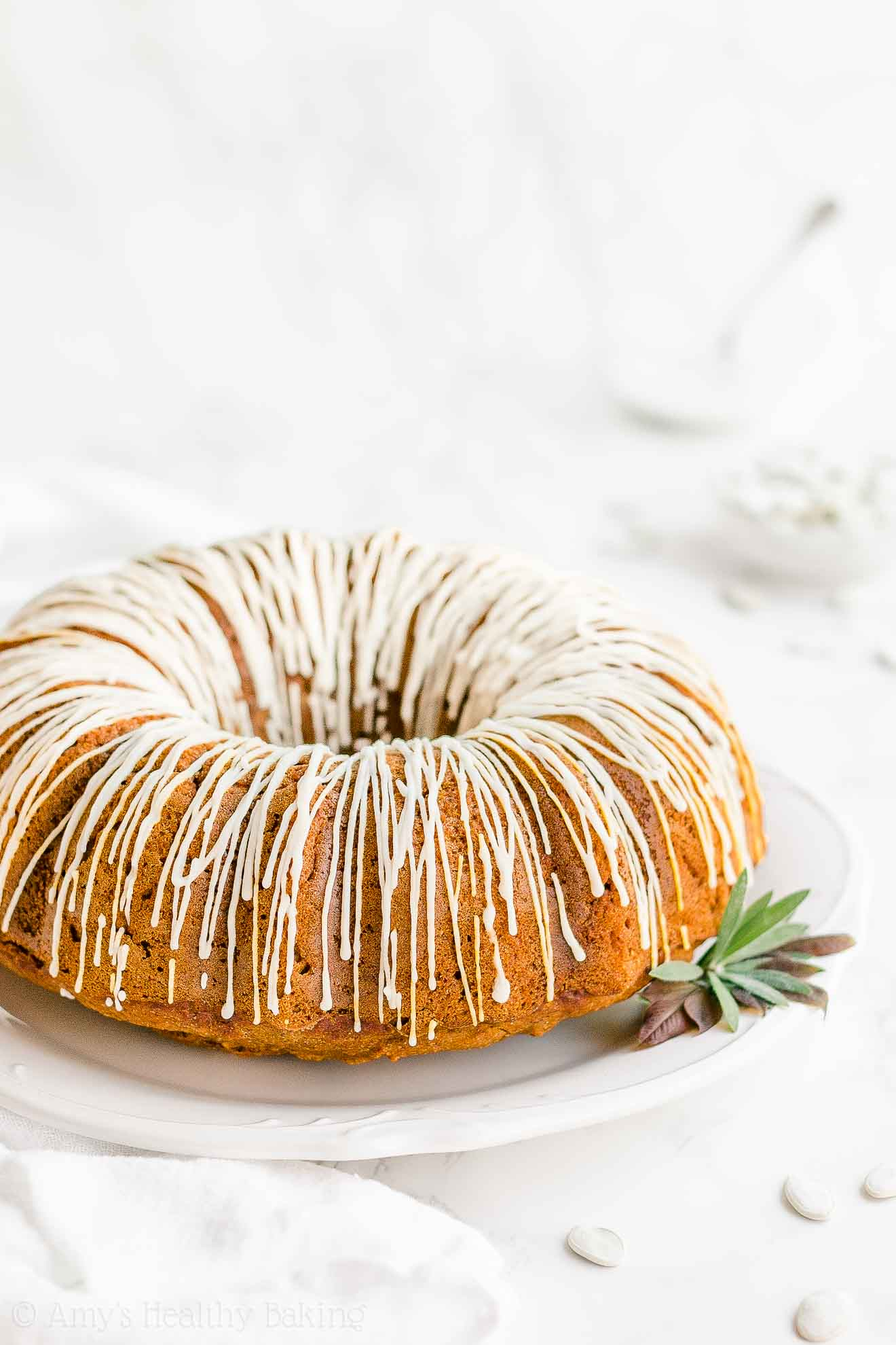 Moist Healthy Easy Gluten Free Sugar Free Pumpkin Bundt Cake
