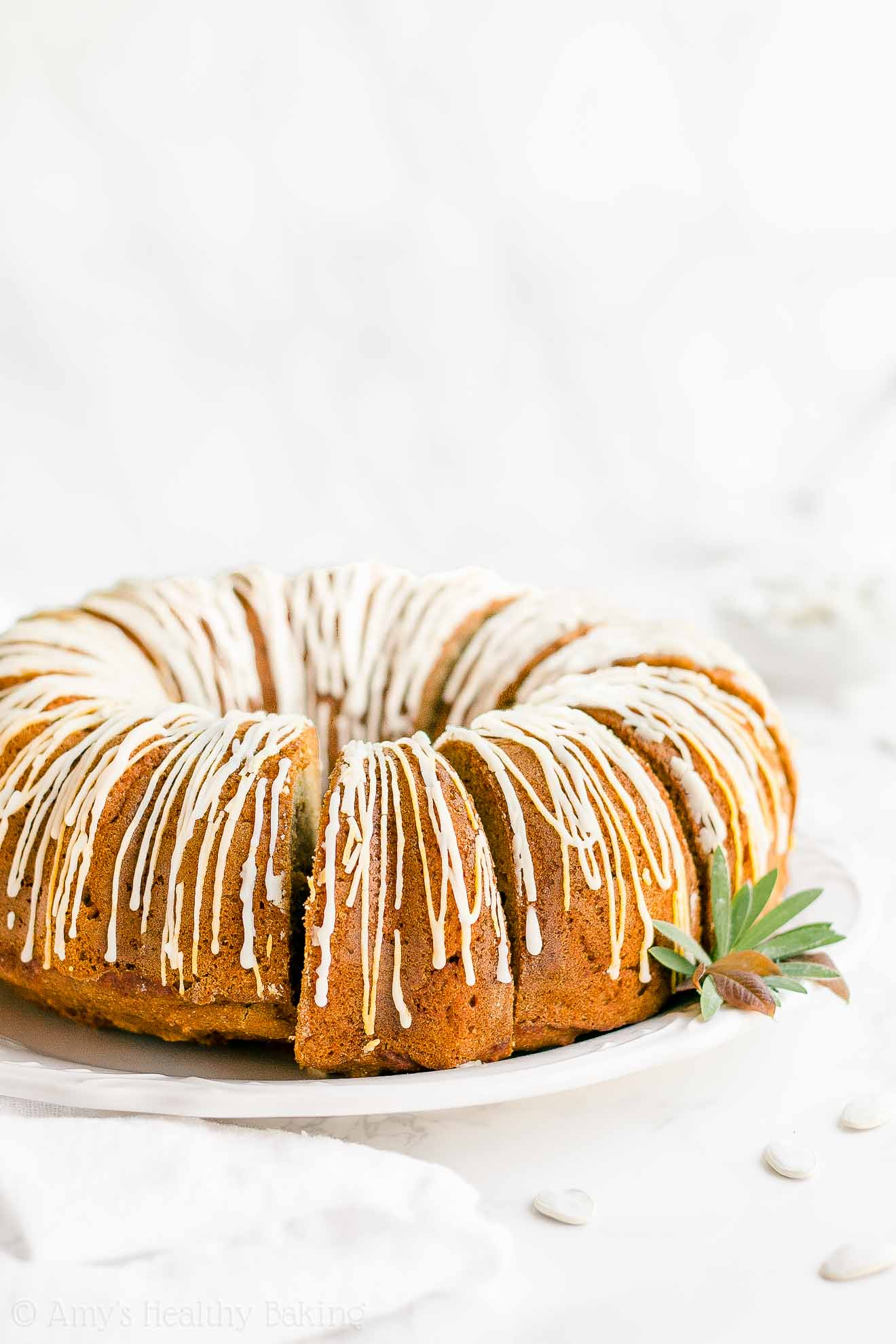 Easy Healthy Homemade Low Fat Low Calorie Pumpkin Bundt Cake