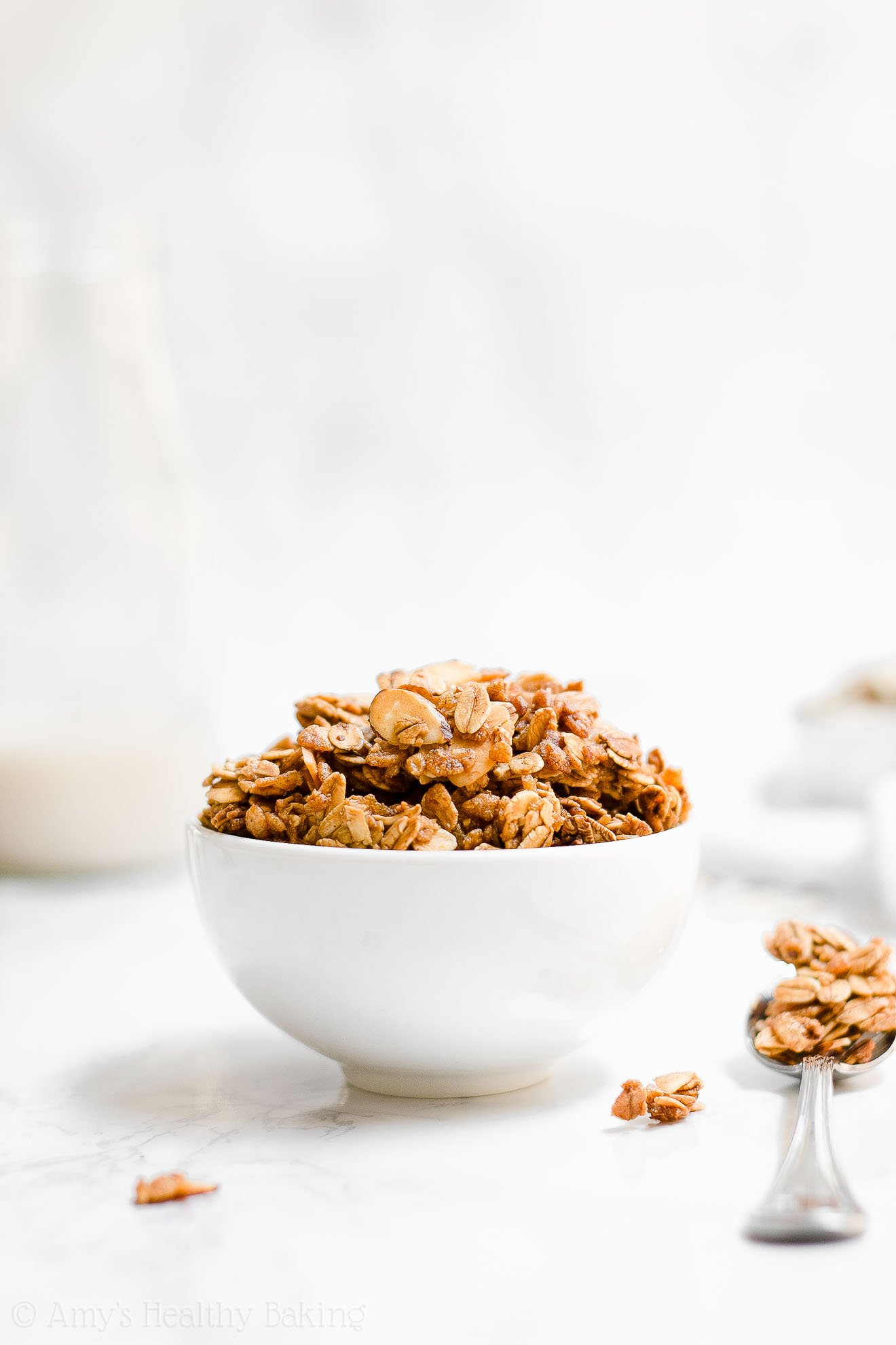 Easy Healthy Clean Eating Crunchy Vanilla Almond Granola Clusters