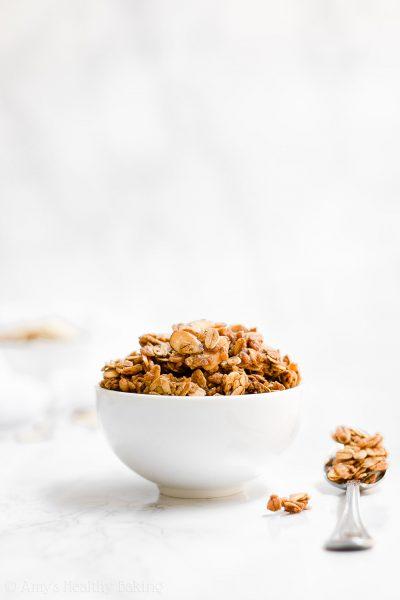 Healthy Vanilla Almond Granola