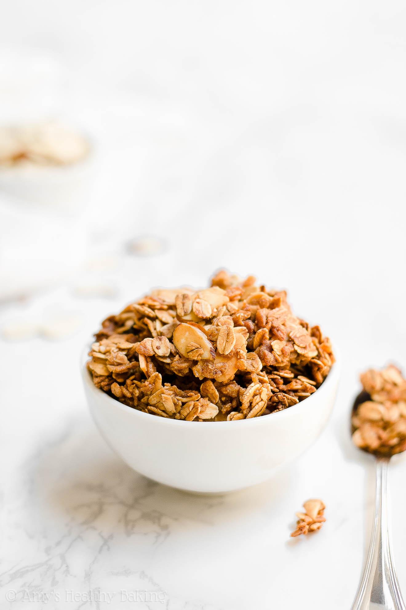 Healthy Crunchy Homemade Vanilla Almond Granola Clusters