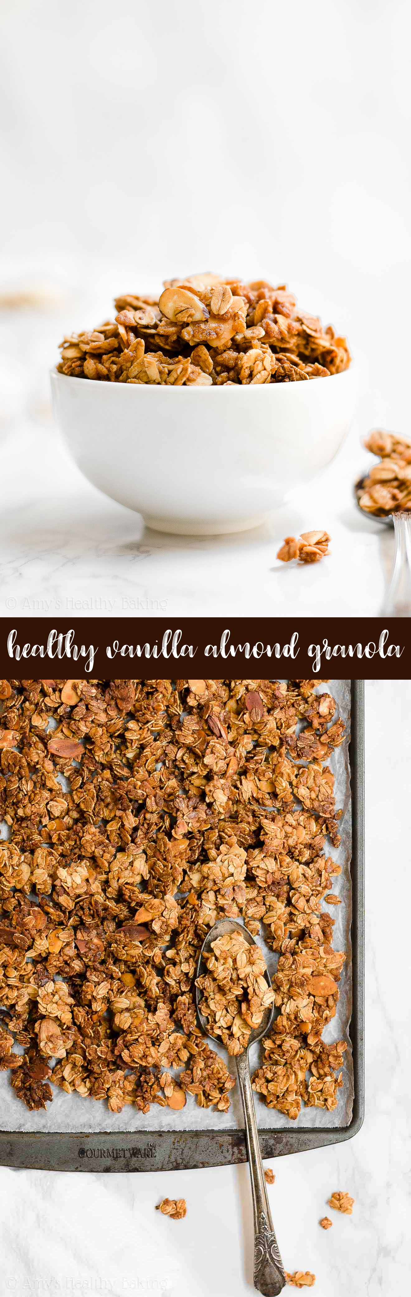 Best Ever Healthy Homemade Crunchy Vanilla Almond Granola