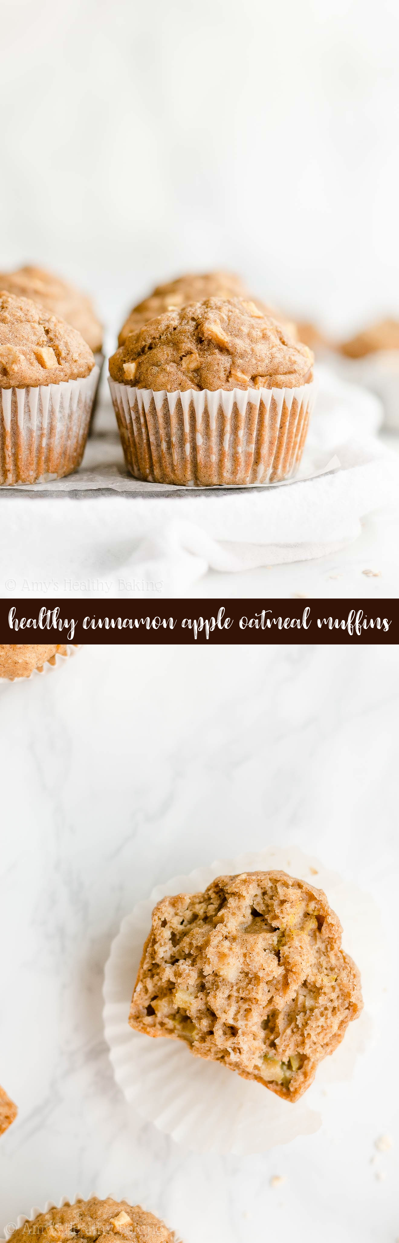 Best Ever Easy Healthy Greek Yogurt Cinnamon Apple Oatmeal Muffins