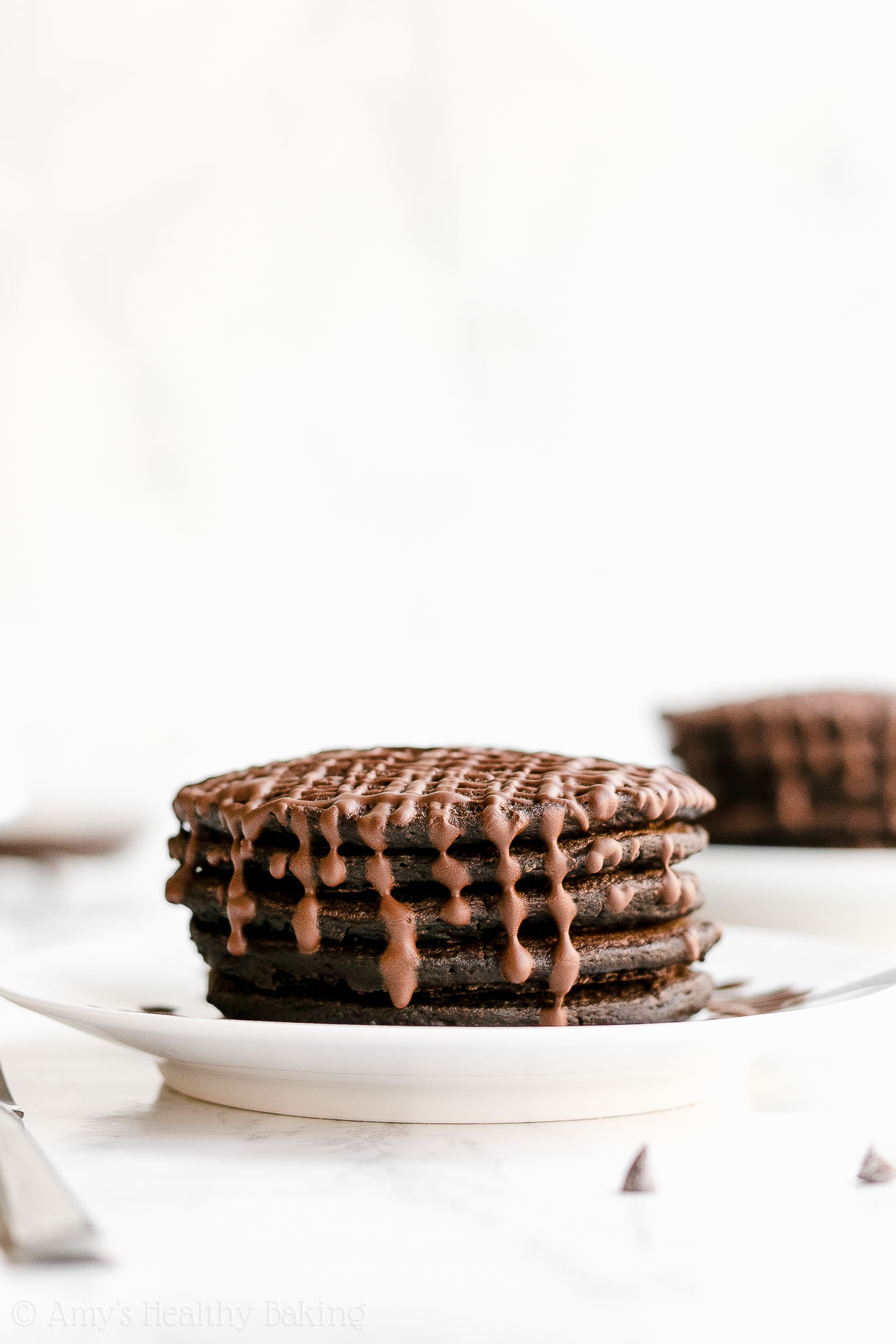 Healthy Gluten Free Sugar Free Dark Chocolate Pancakes