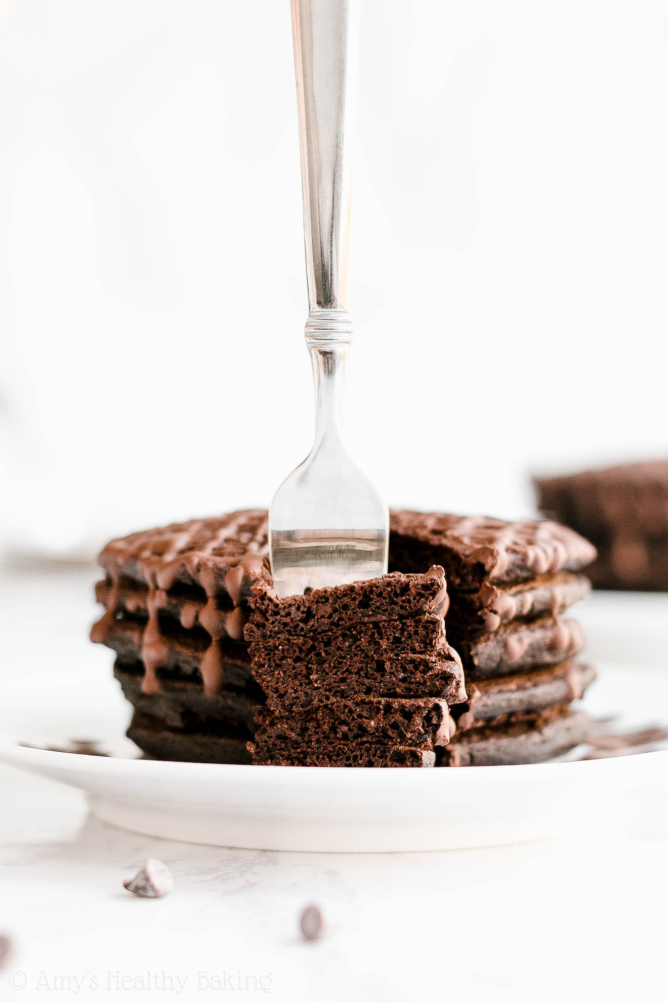 Easy Healthy Gluten Free Sugar Free Fluffy Dark Chocolate Pancakes