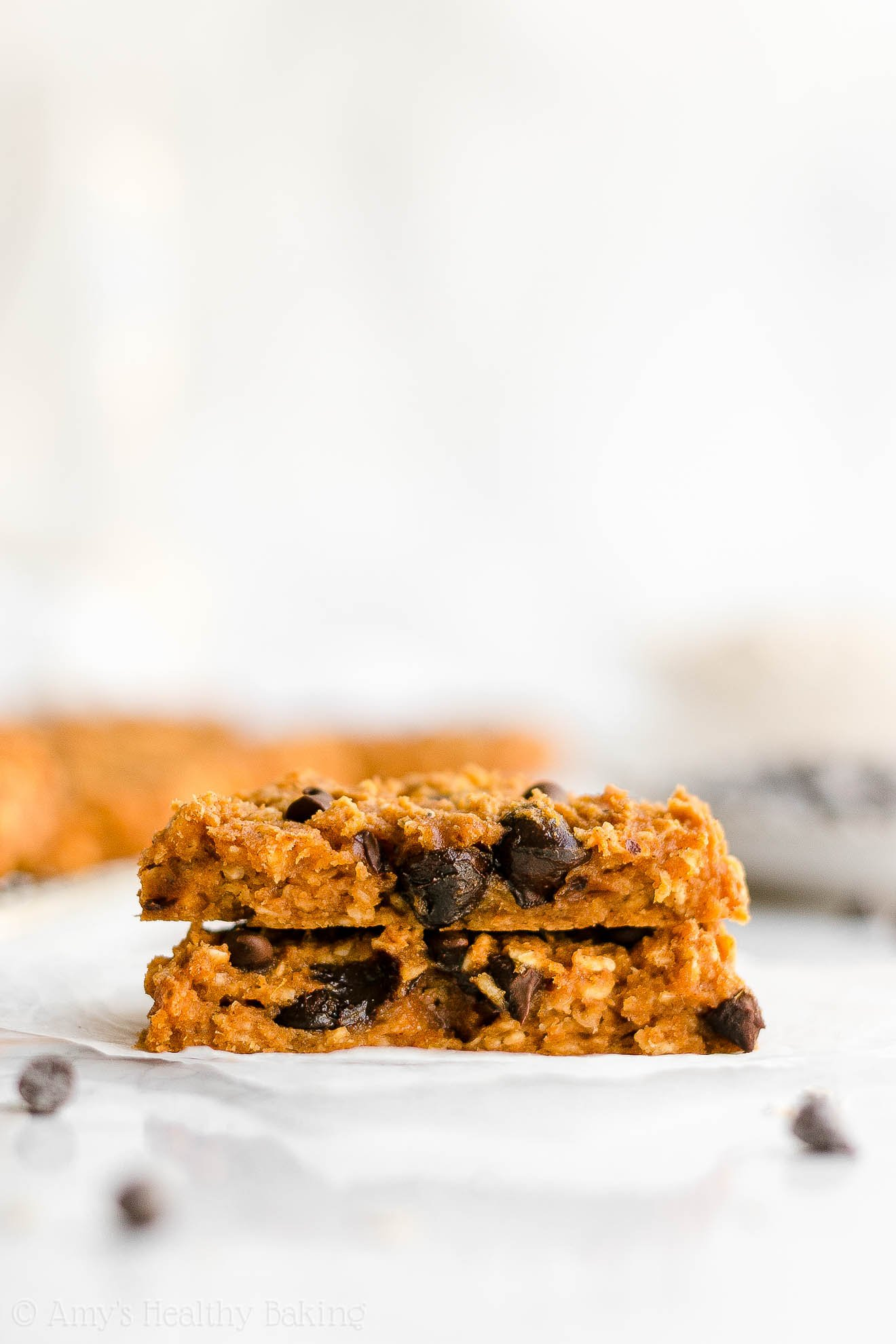 Healthy Low Fat Flourless Pumpkin Chocolate Chip Oatmeal Protein Cookies