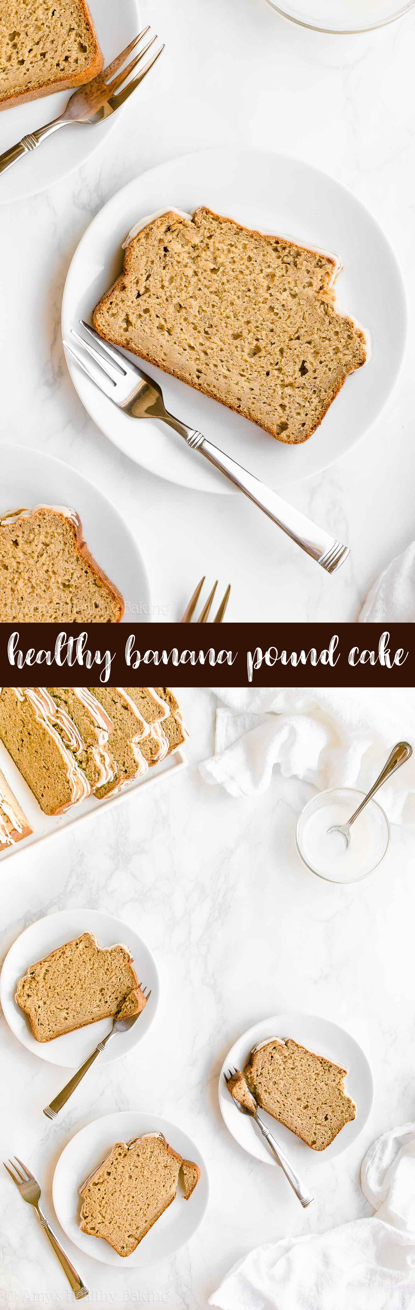 Best Ever Easy Healthy Low Calorie Greek Yogurt Banana Pound Cake