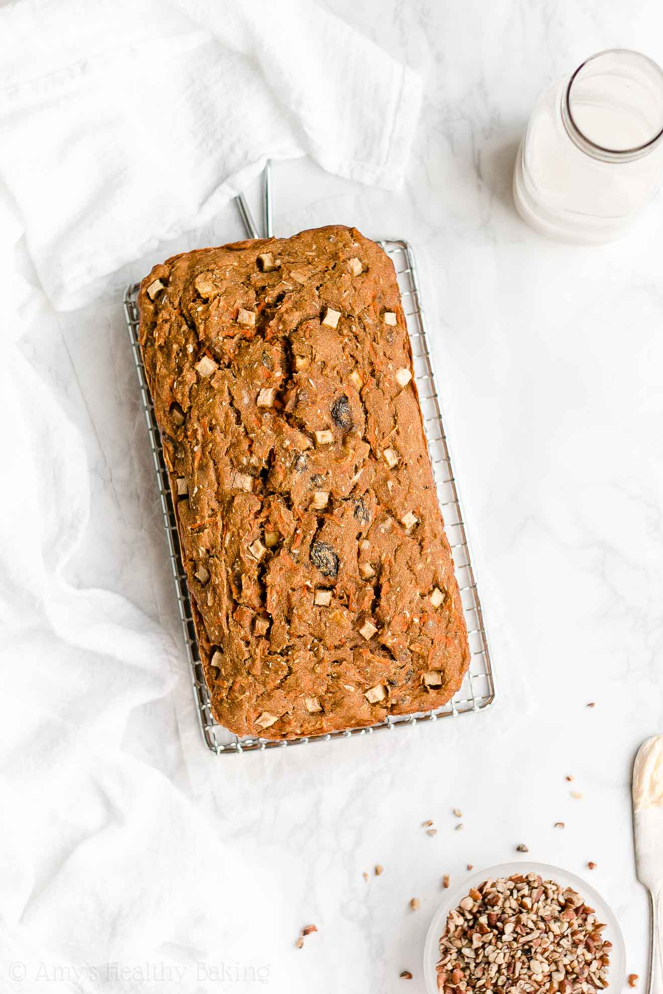 Easy Healthy Whole Wheat Low Calorie Morning Glory Pumpkin Bread