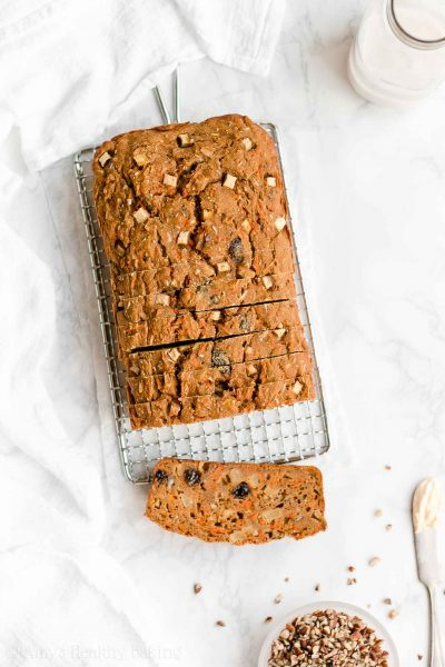 Healthy Morning Glory Pumpkin Bread