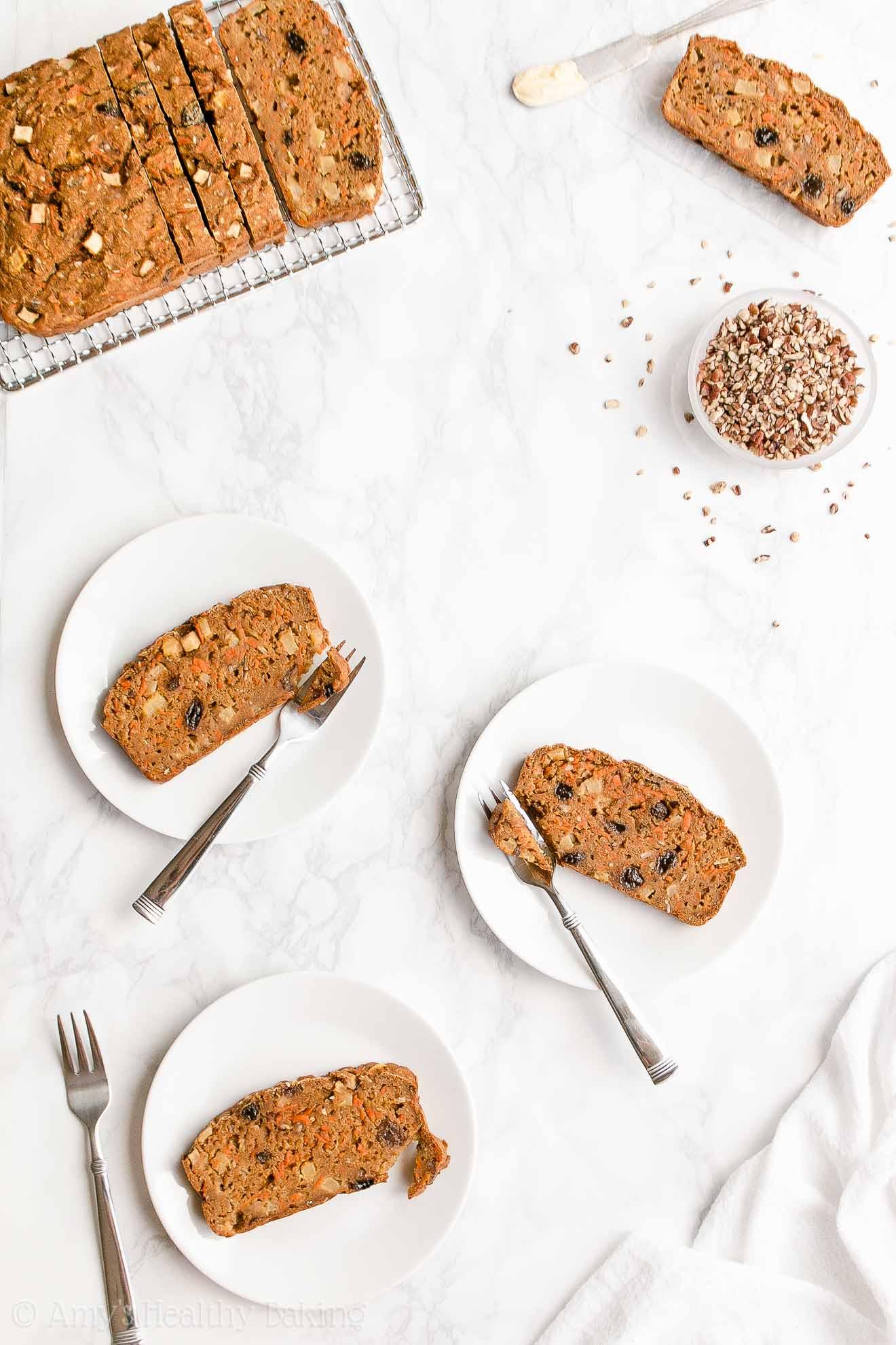Easy Healthy Moist Low Fat Greek Yogurt Morning Glory Pumpkin Bread