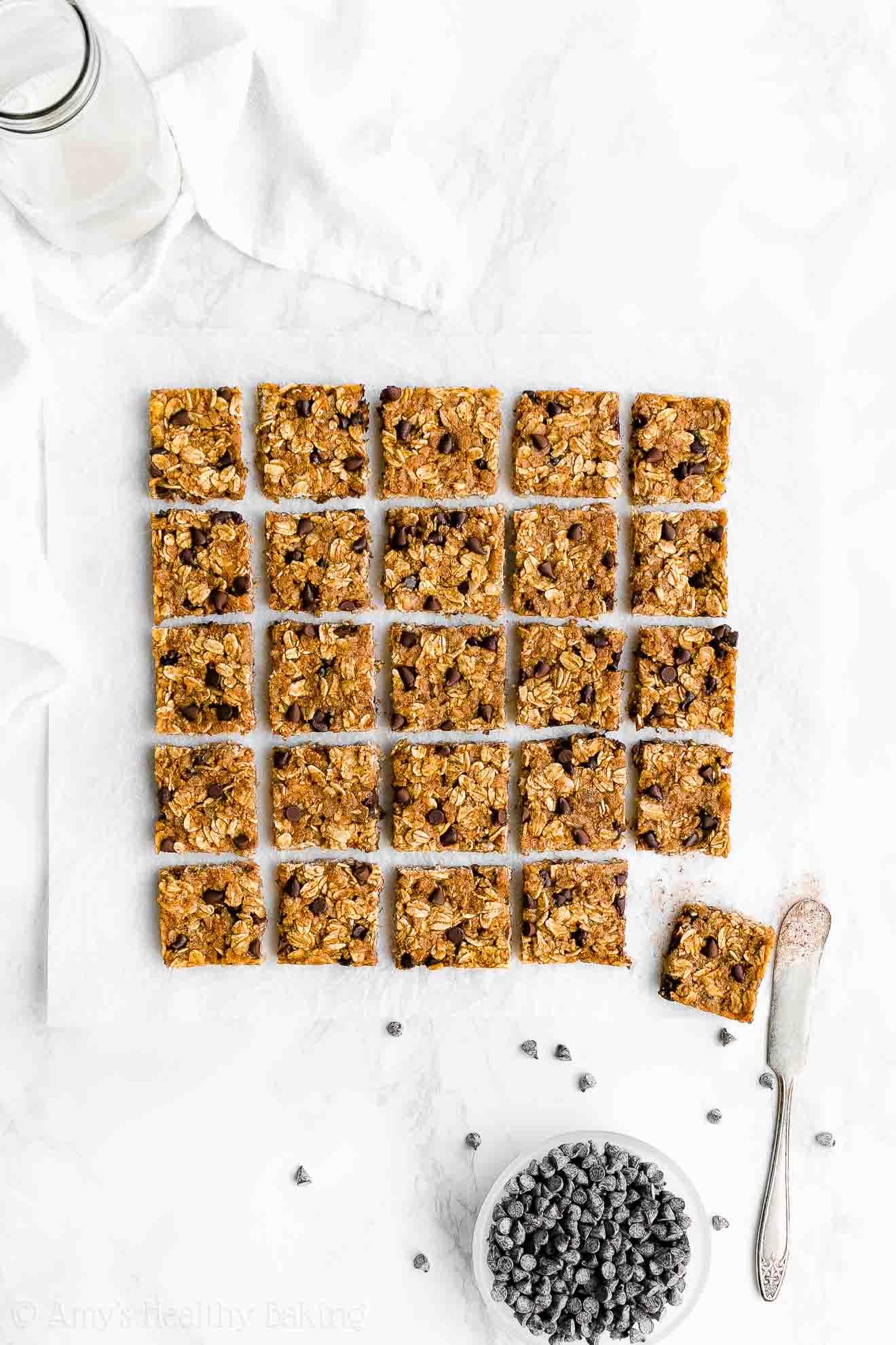 Healthy Low Calorie Low Fat Pumpkin Chocolate Chip Granola Bar Bites