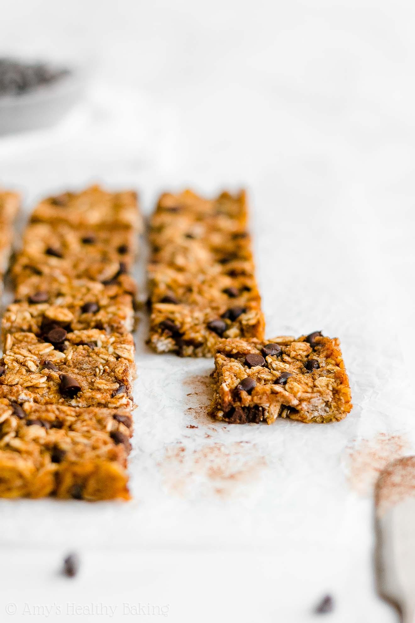 Healthy Gluten Free Chewy Pumpkin Chocolate Chip Granola Bar Bites