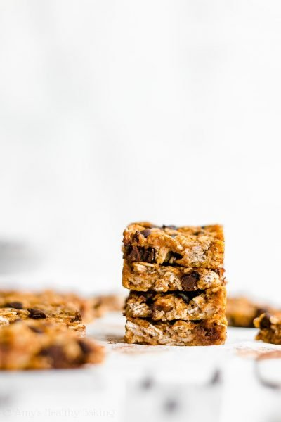 Healthy Pumpkin Chocolate Chip Granola Bar Bites