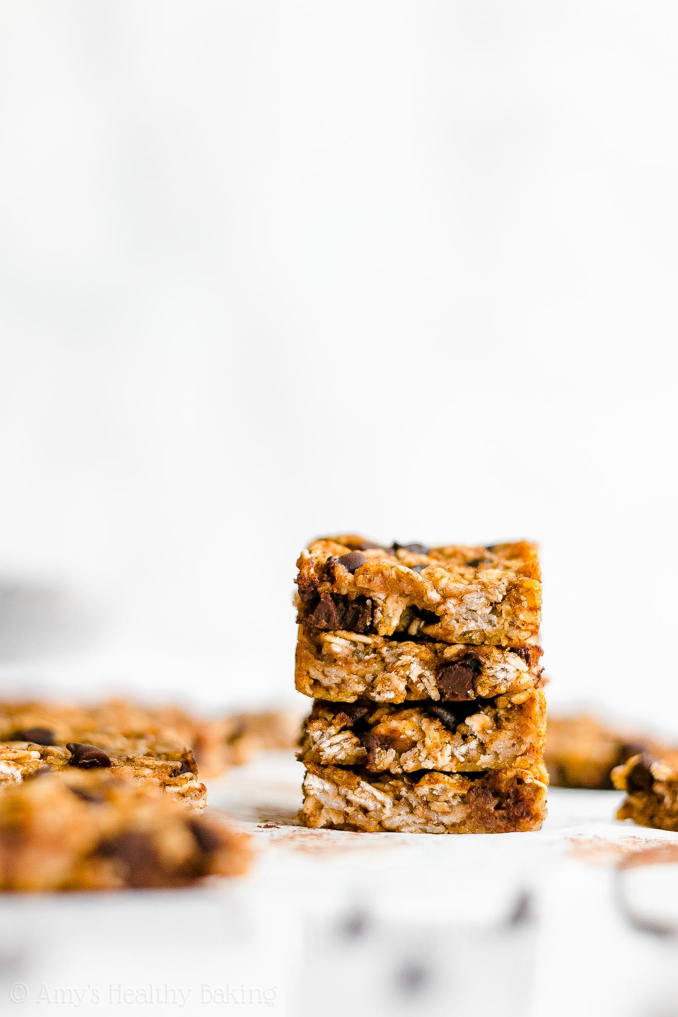 Healthy Clean Eating Chewy Pumpkin Chocolate Chip Granola Bar Bites