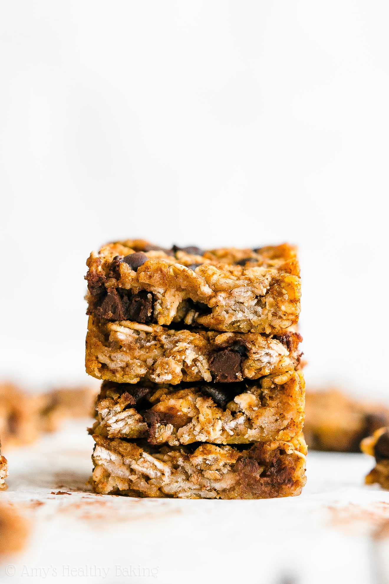 Simple Healthy Homemade DIY Chewy Pumpkin Chocolate Chip Granola Bar Bites