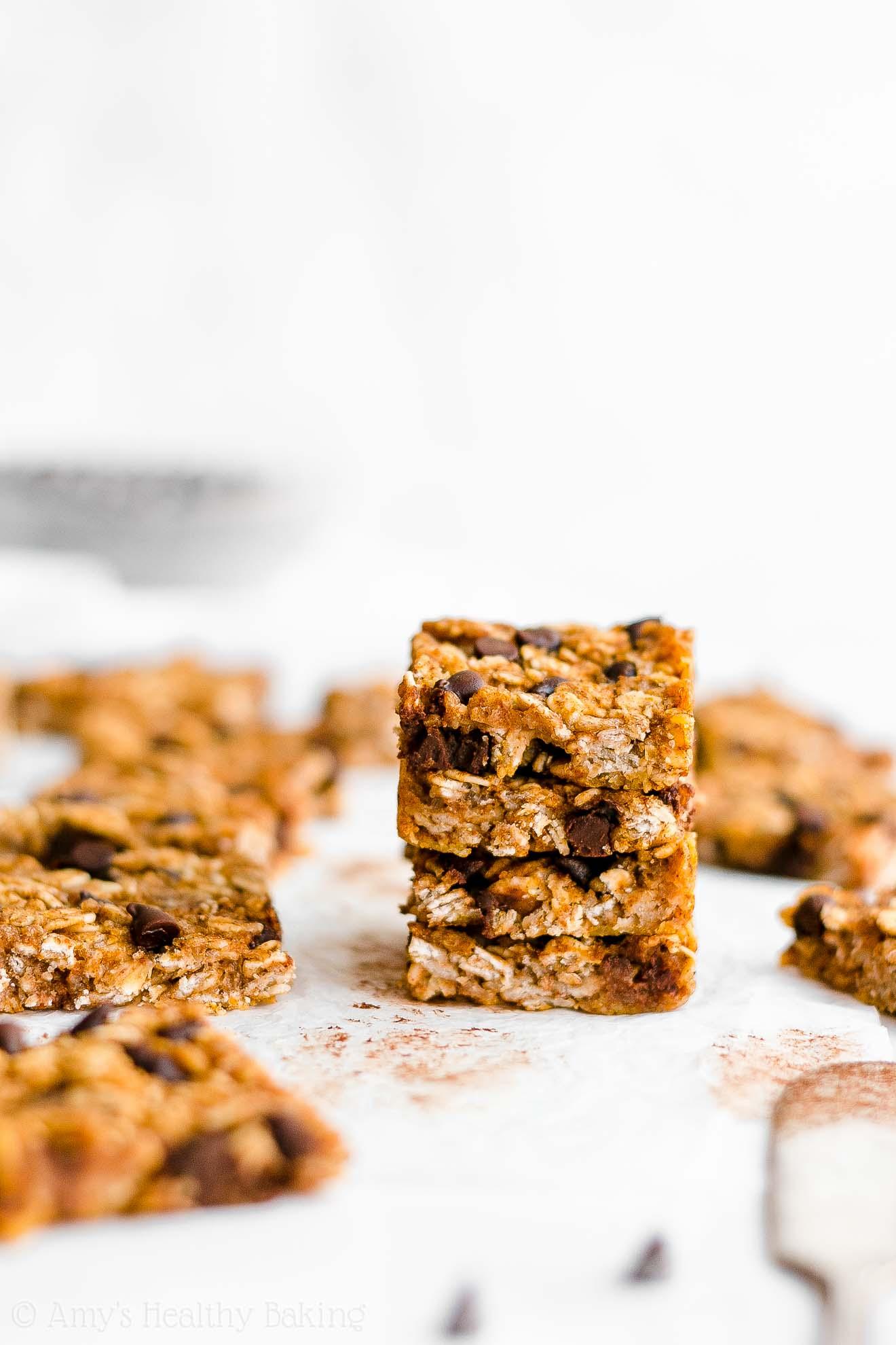 Best Easy Healthy Gluten Free Low Calorie Pumpkin Chocolate Chip Granola Bar Bites