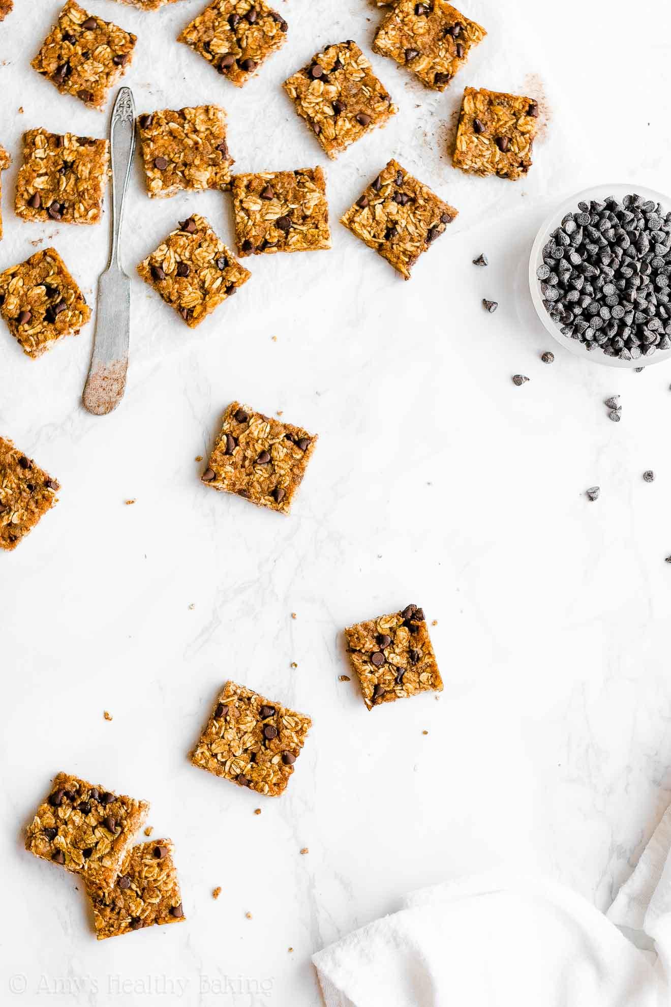 Healthy Pumpkin Chocolate Chip Granola Bar Bites with Weight Watchers Points