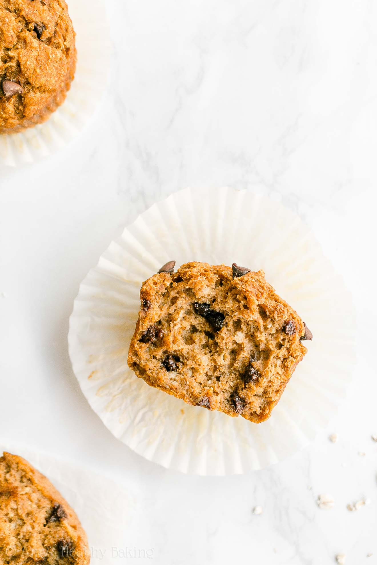 Best Healthy Whole Wheat Low Sugar Pumpkin Chocolate Chip Oatmeal Muffins