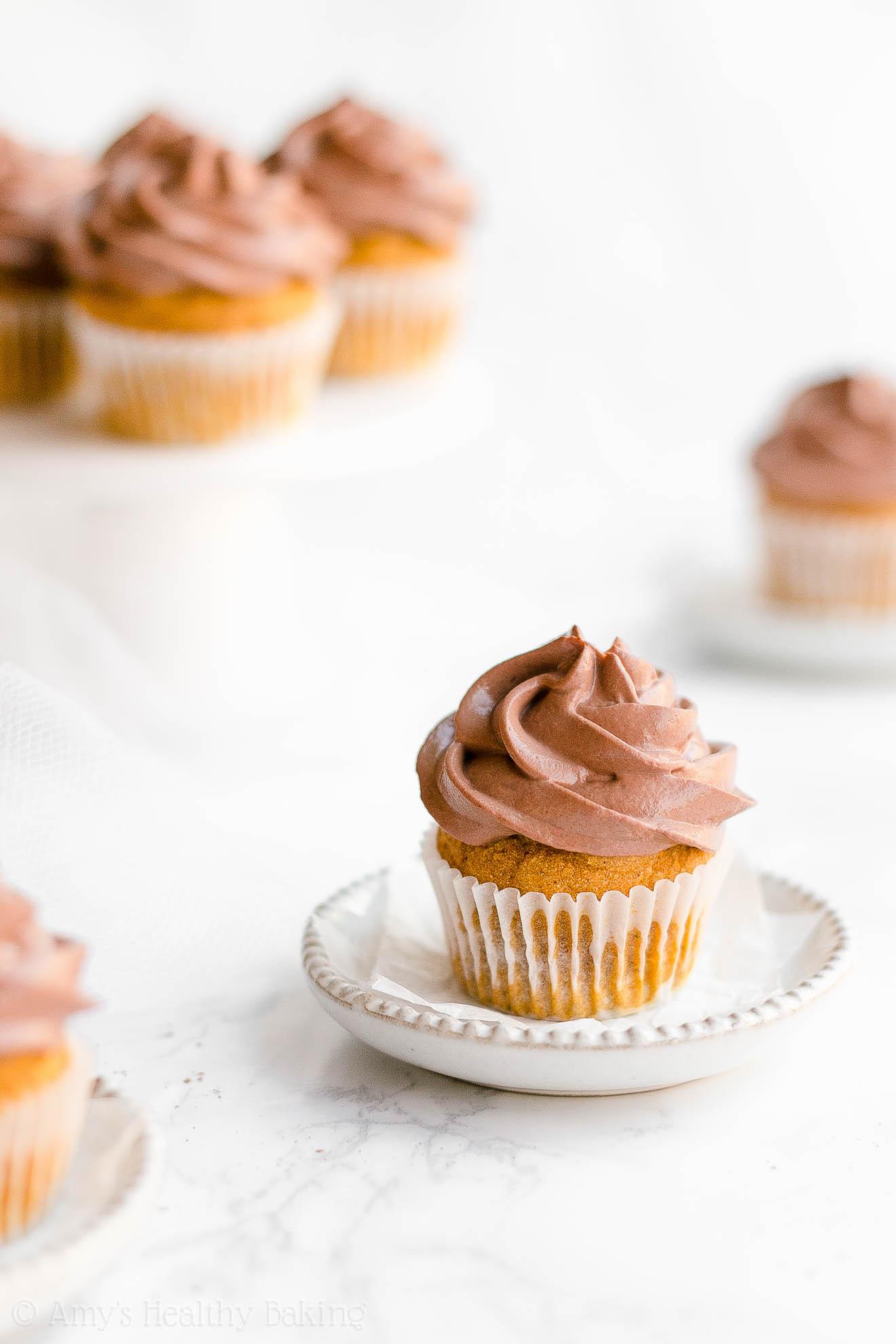 Easy Moist Healthy Low Sugar Small Batch Mini Pumpkin Cupcakes