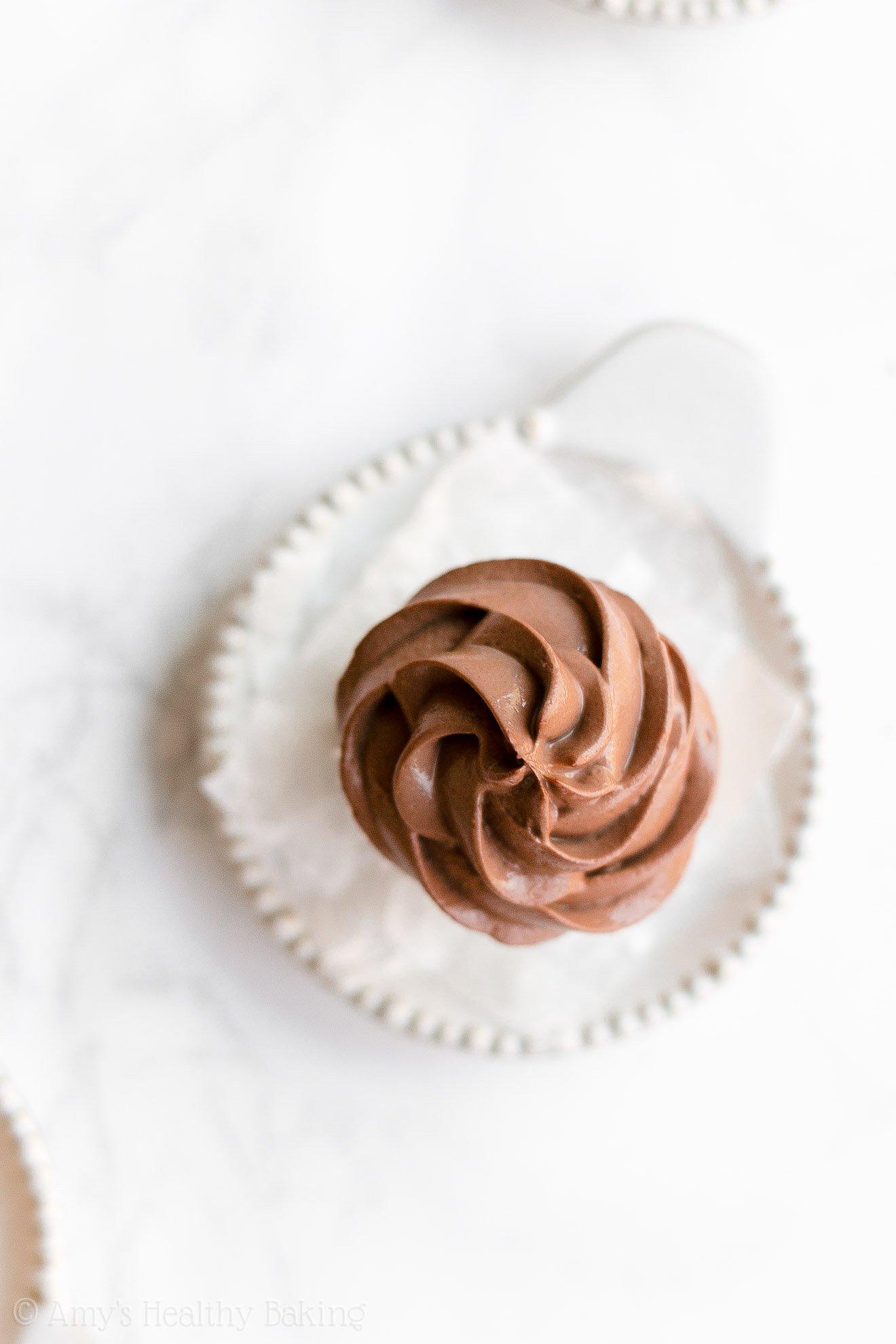 Easy Healthy Mini Pumpkin Cupcakes with Sugar Free Chocolate Greek Yogurt Frosting
