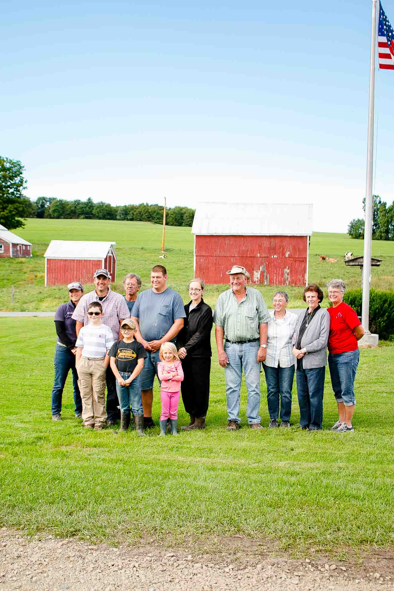 The owners and families that run the High Meadows Organic Dairy Farm in New York