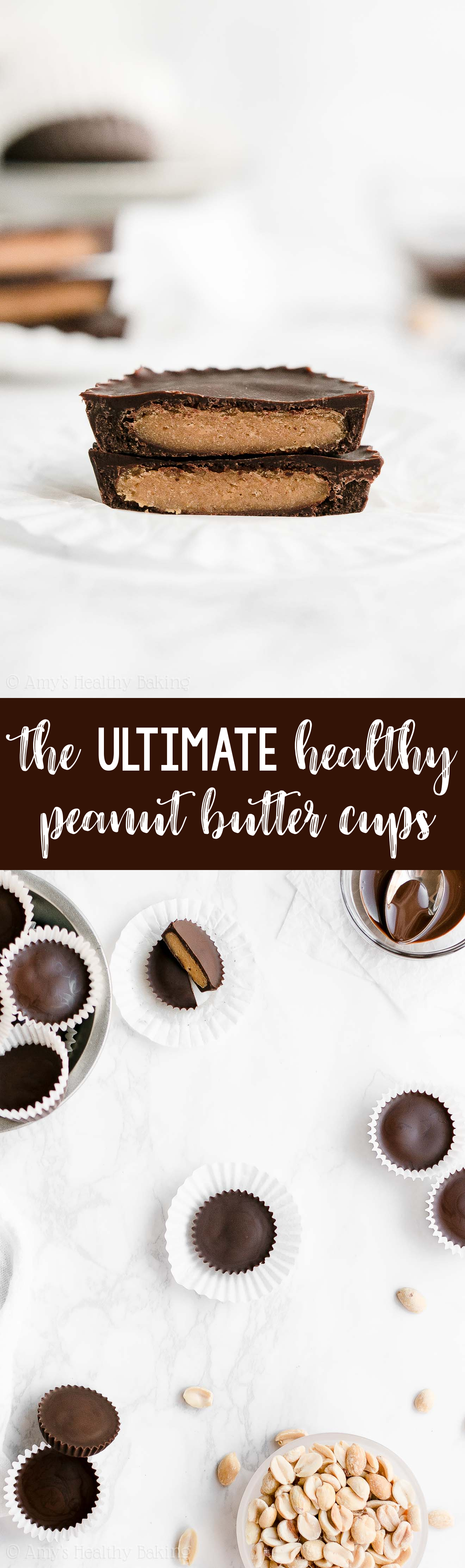ULTIMATE Best Ever Healthy Clean Eating Dark Chocolate Peanut Butter Cups